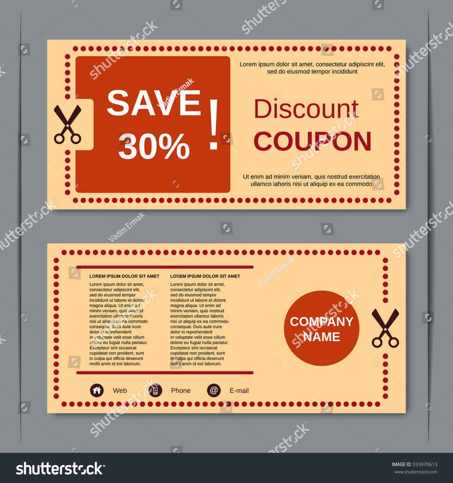 Design of discount card - Discount Coupon Gift Voucher Gift Certificate Invitation Card Label Sticker Design