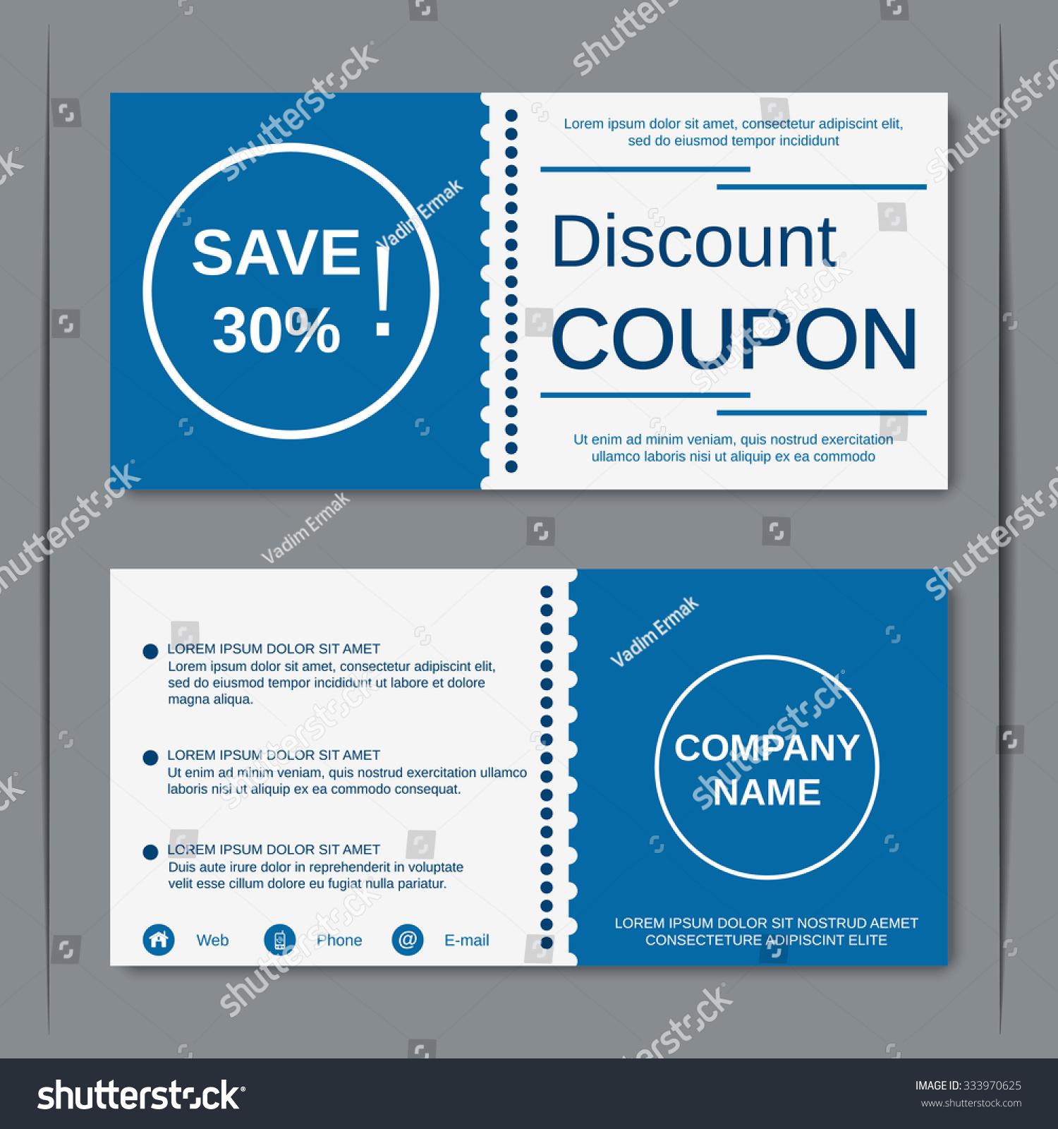 Discount coupon gift voucher gift certificate stock vector 333970625 discount coupon gift voucher gift certificate invitation card label sticker design stopboris Choice Image