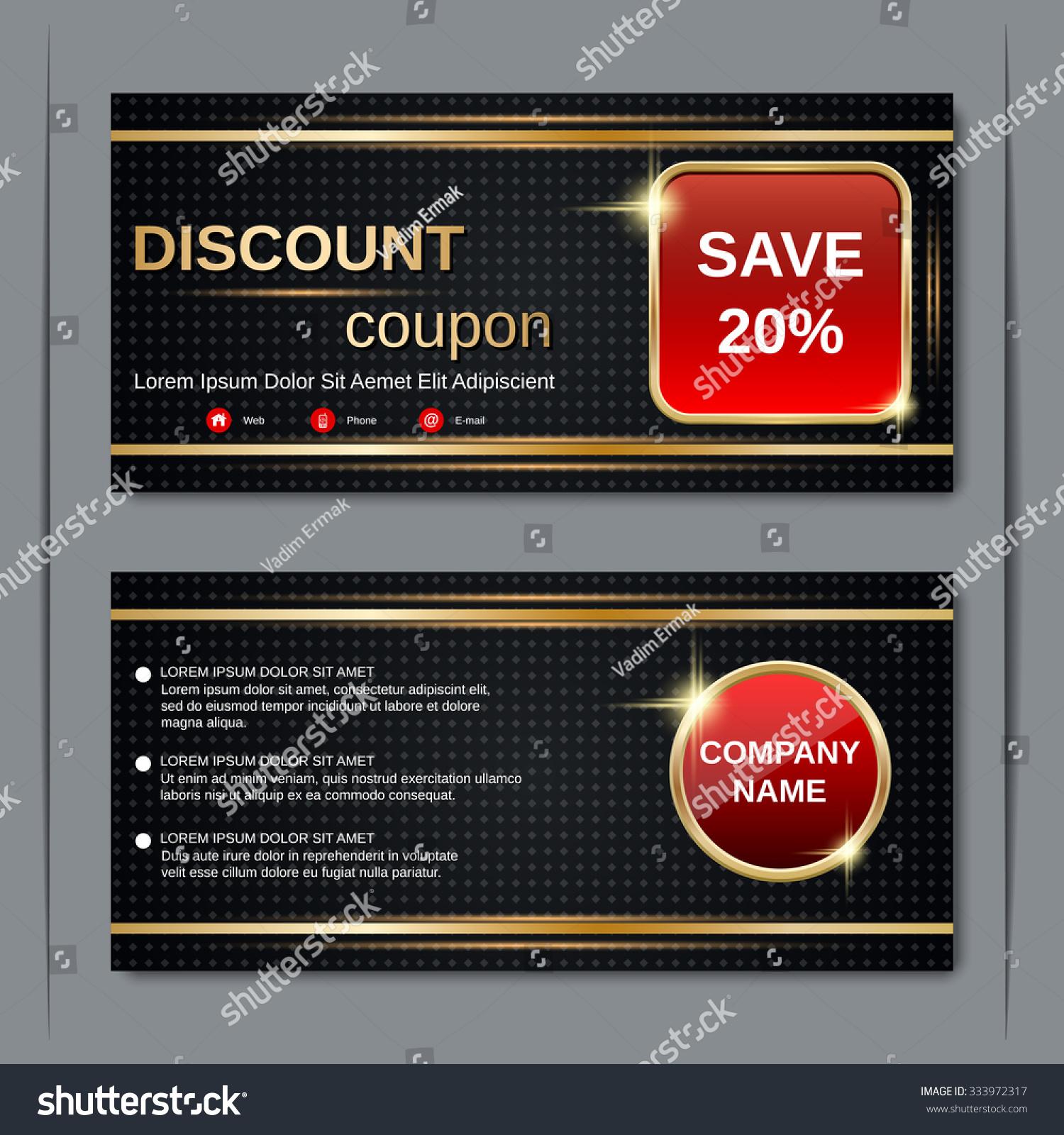 Doc13001390 Discount Voucher Design Discount Voucher Design – Discount Voucher Design