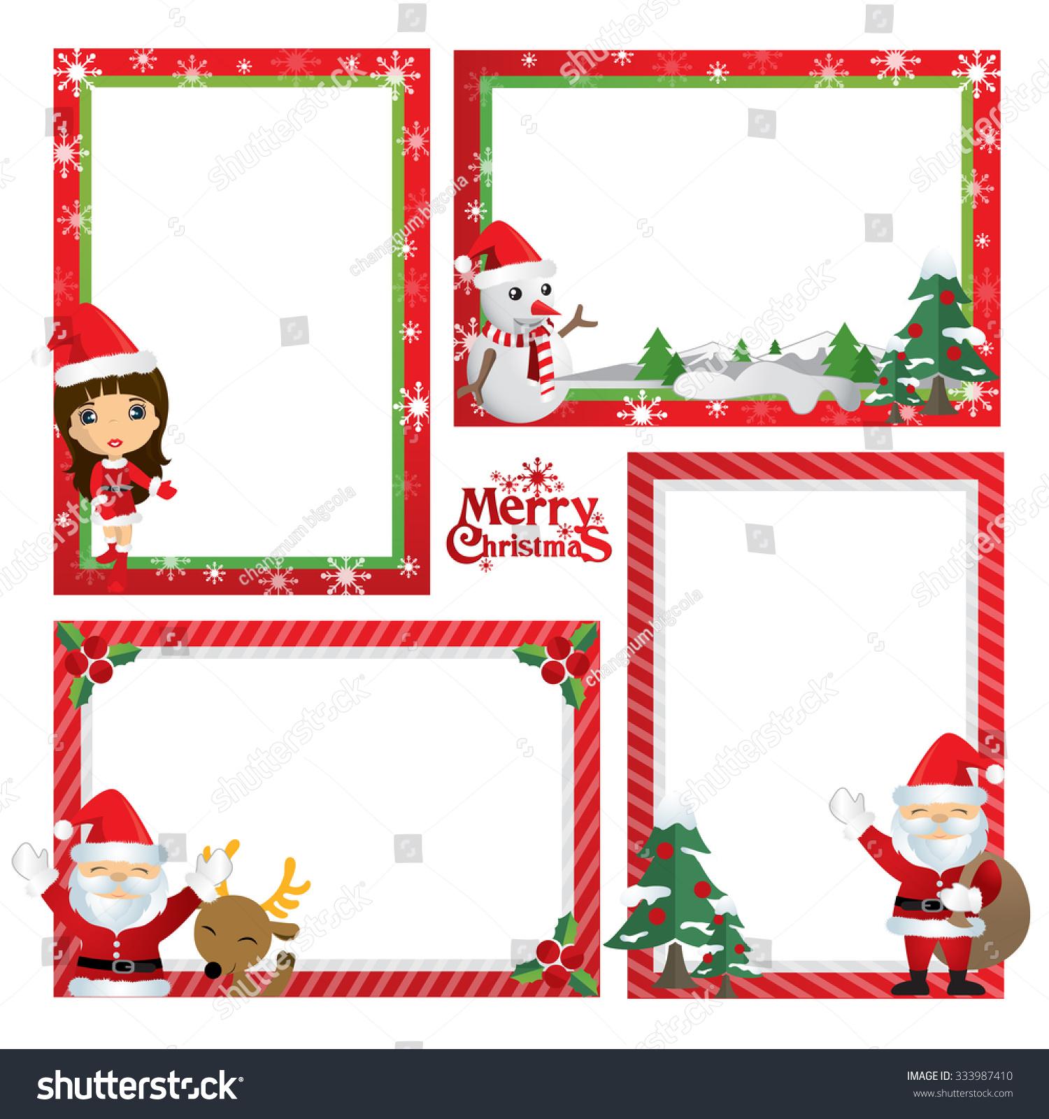 Border design little girl christmas theme stock vector for Christmas theme design