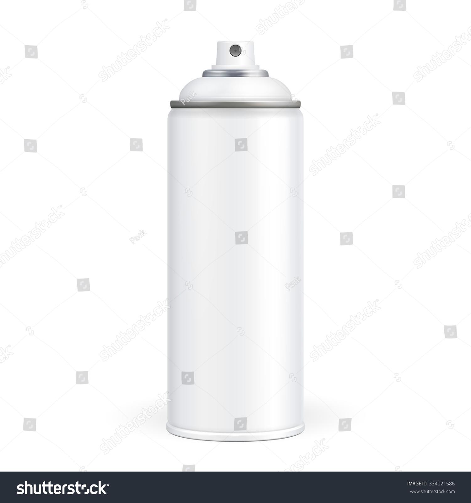 White Paint Aerosol Spray Metal 3d Stock Vector 334021586
