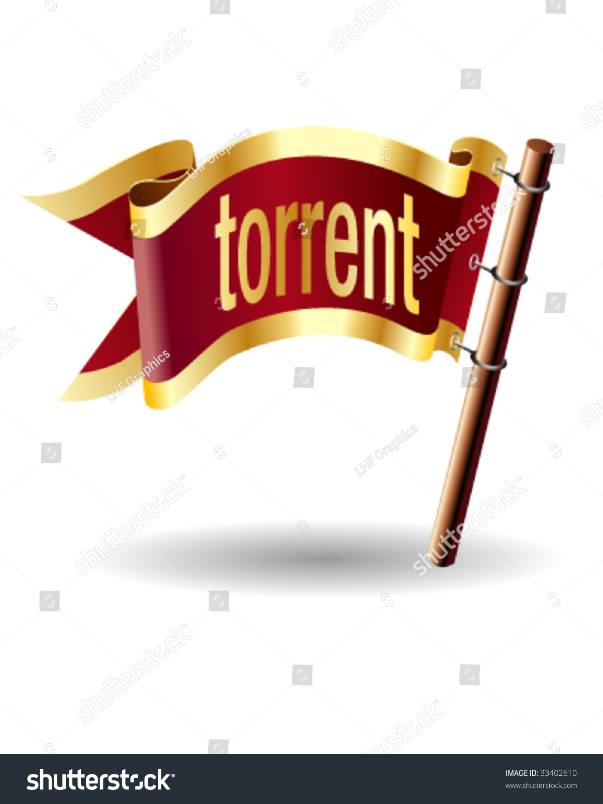 TORRENT Computer File Extension Icon On Stock Vector