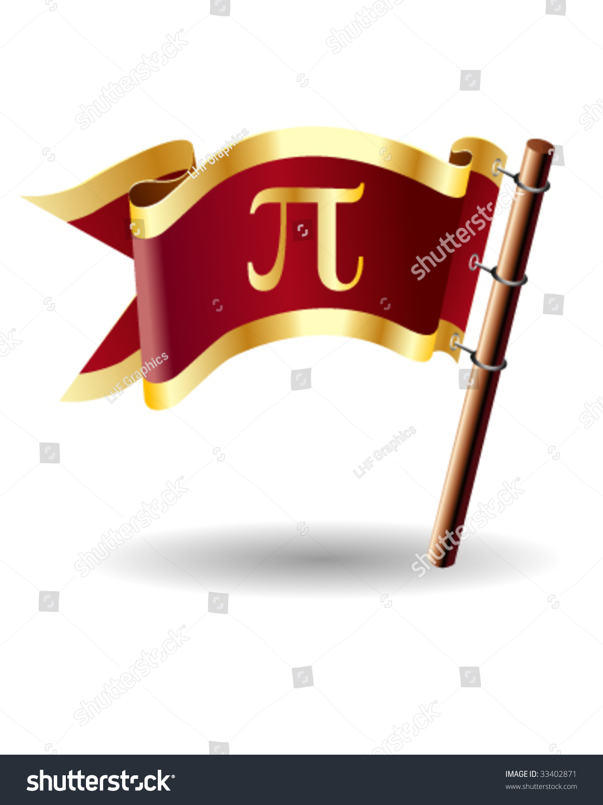 Pi Math Symbol On Royal Vector Stock Vector Royalty Free 33402871