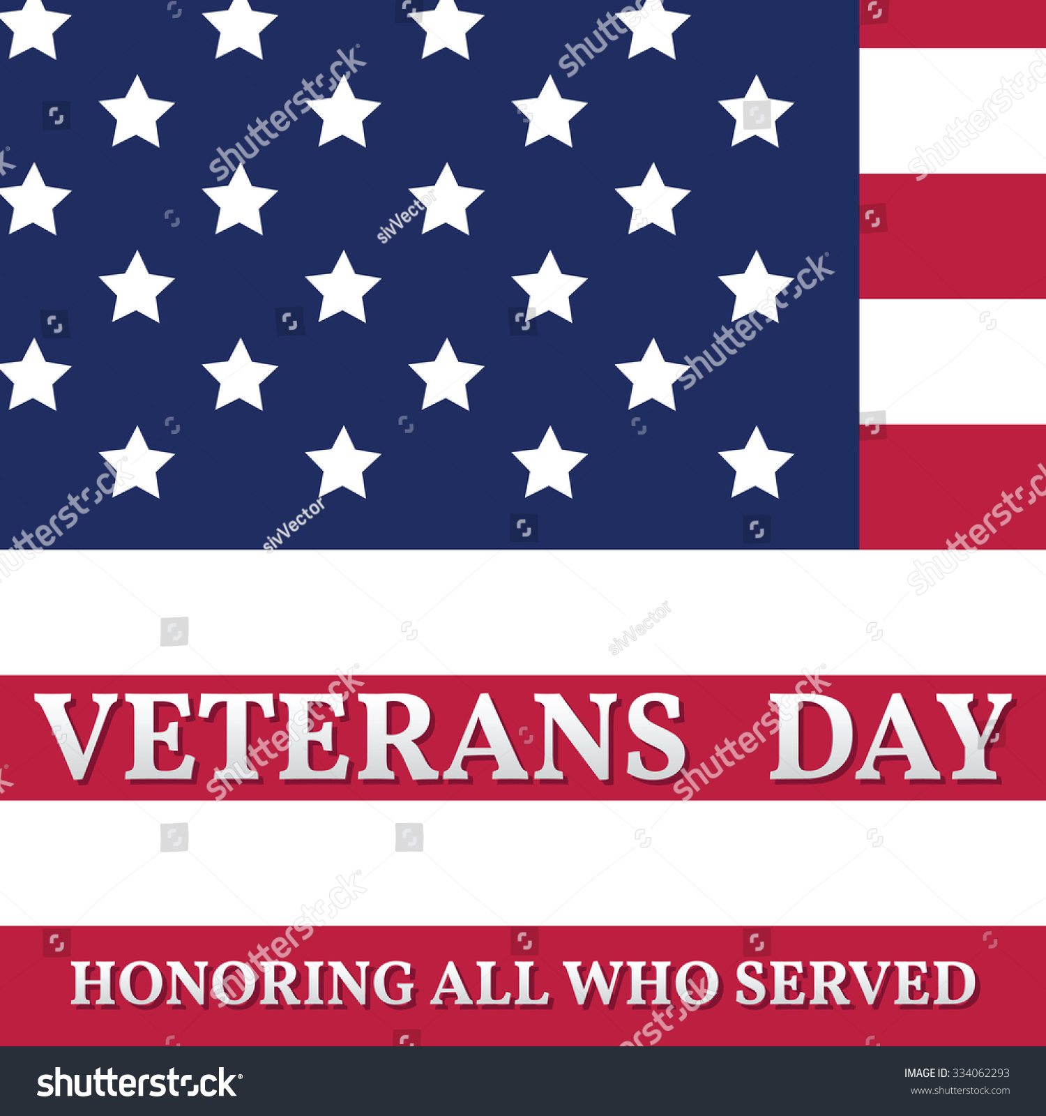Happy veterans day greeting card vector stock vector 334062293 happy veterans day greeting card vector illustration m4hsunfo