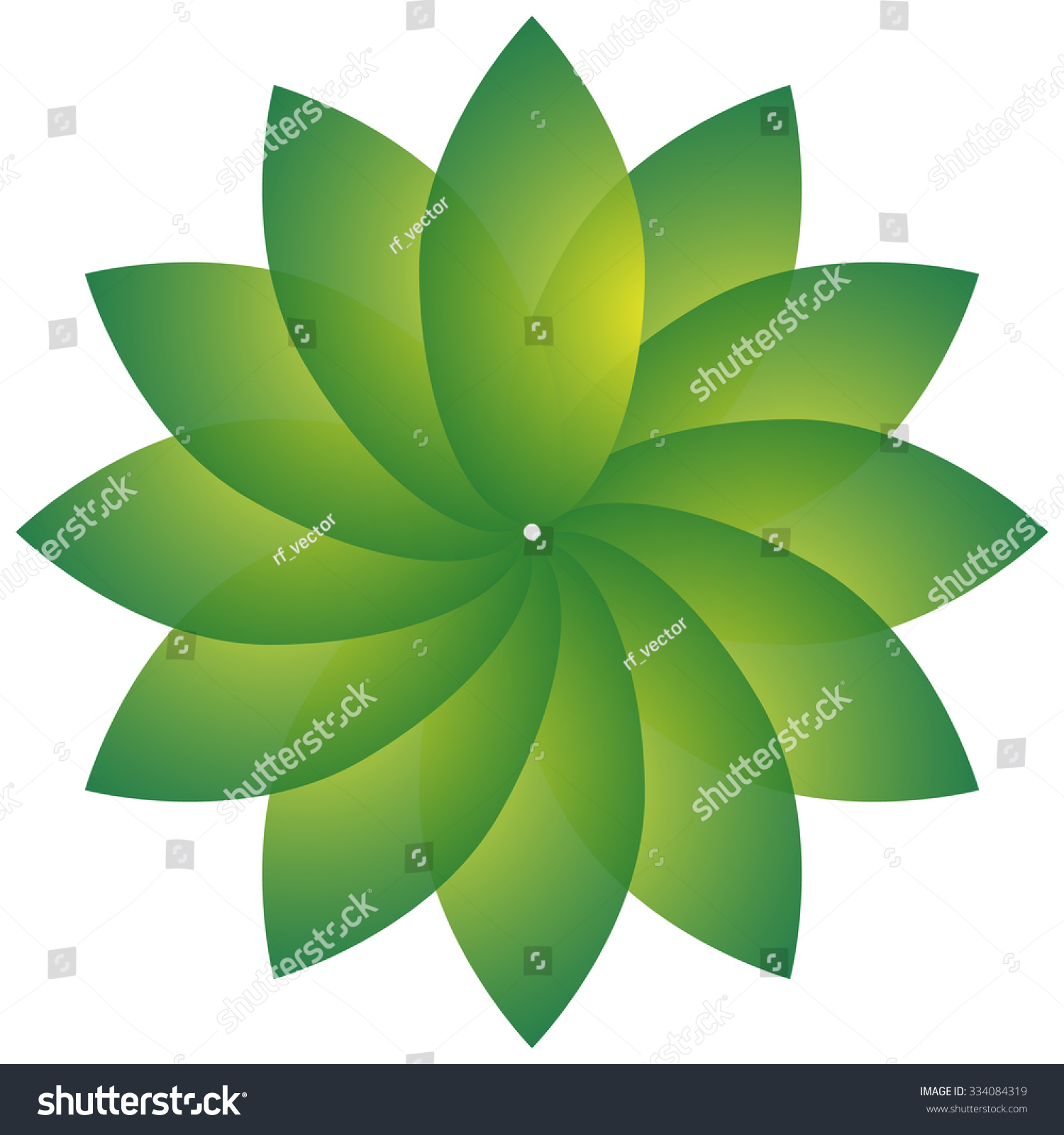 Circular motif with leaf shape nature natural environment concepts stock vector illustration - Circular house plans shapes from nature ...