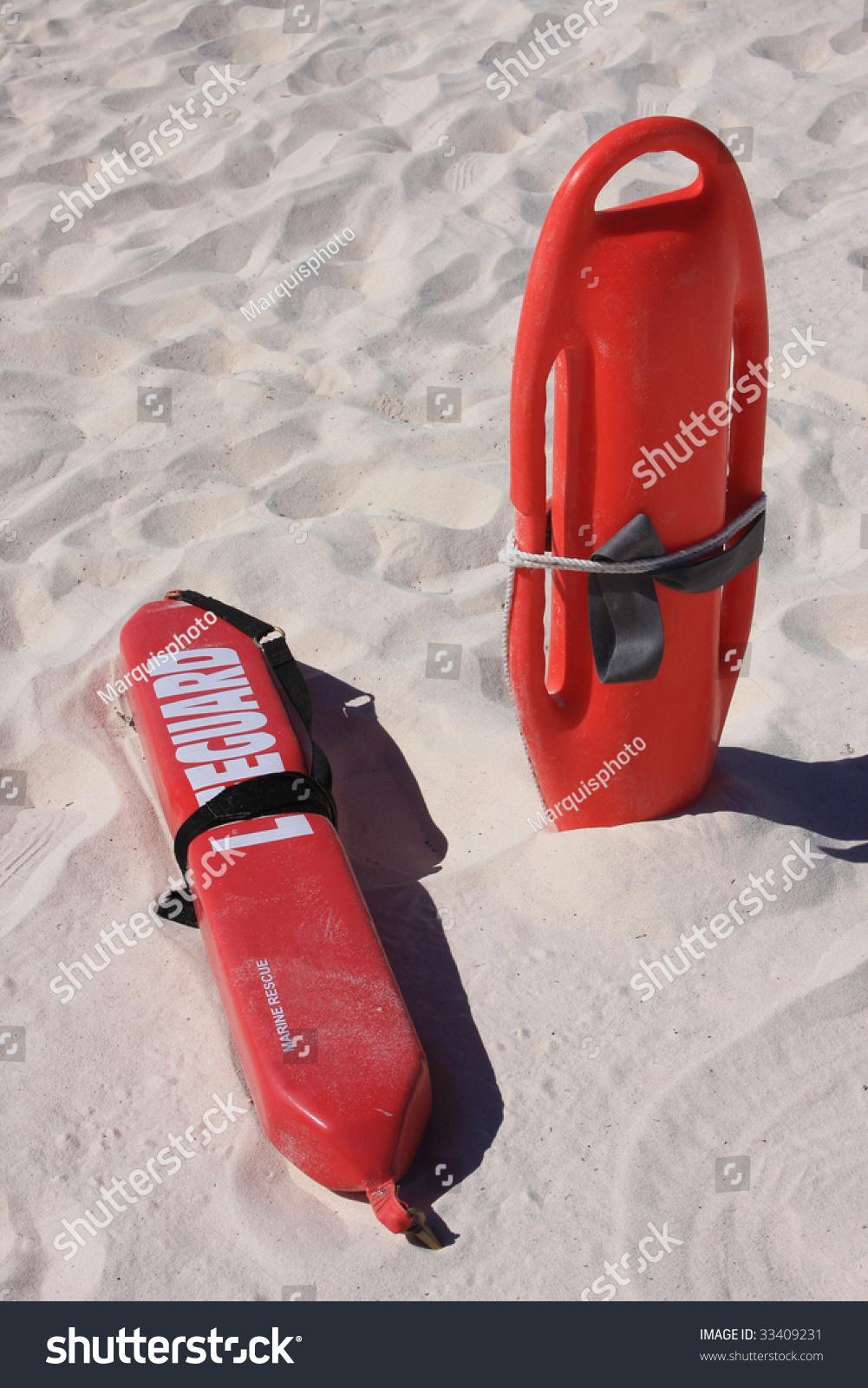 Lifeguard Rescue Equipment On Beach Stock Photo 33409231 Shutterstock