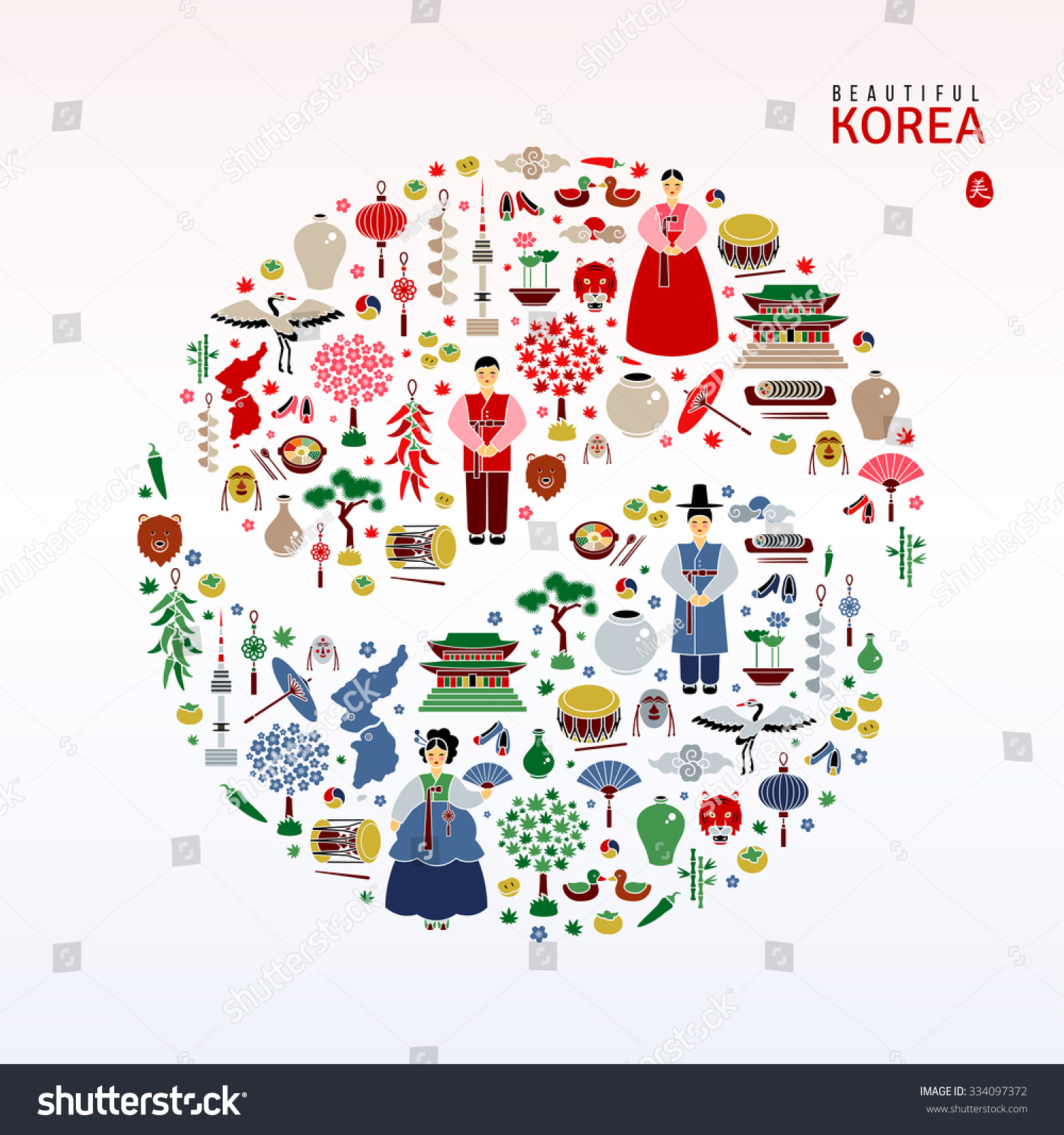 Korean Culture Symbols 3500815 Scarsezefo