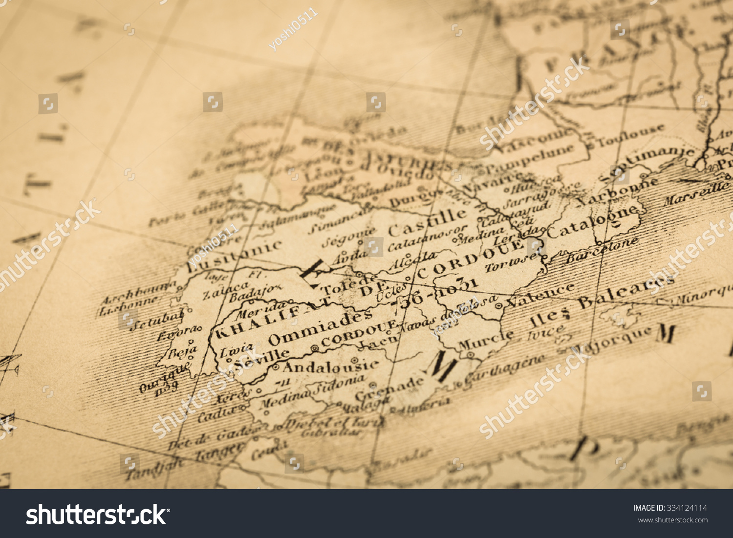Antique World Map Spain Portugal Stock Photo Shutterstock - Portugal map in world map