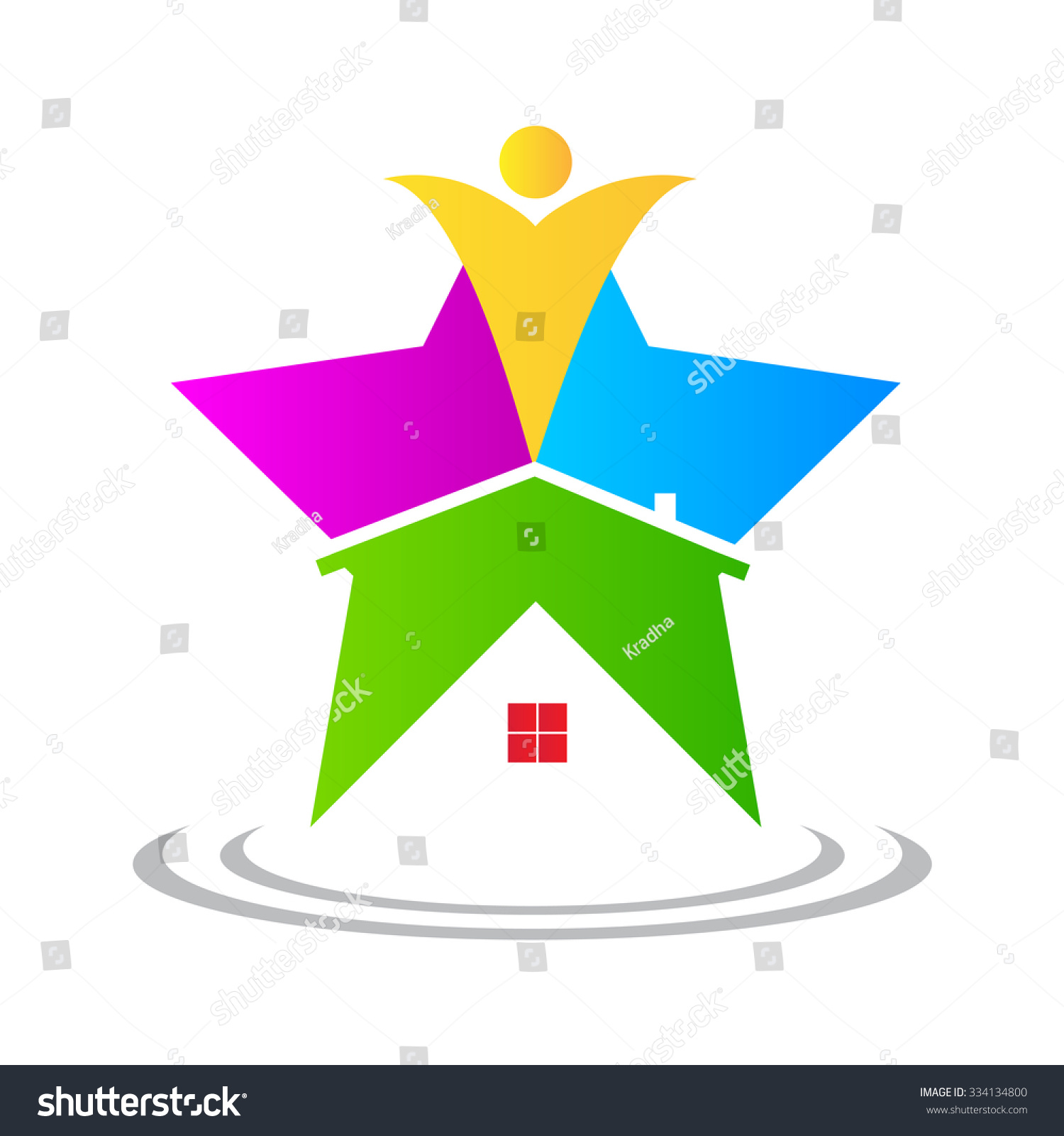 Vector Drawing Represents Star Home Design Stock Vector 334134800 ...