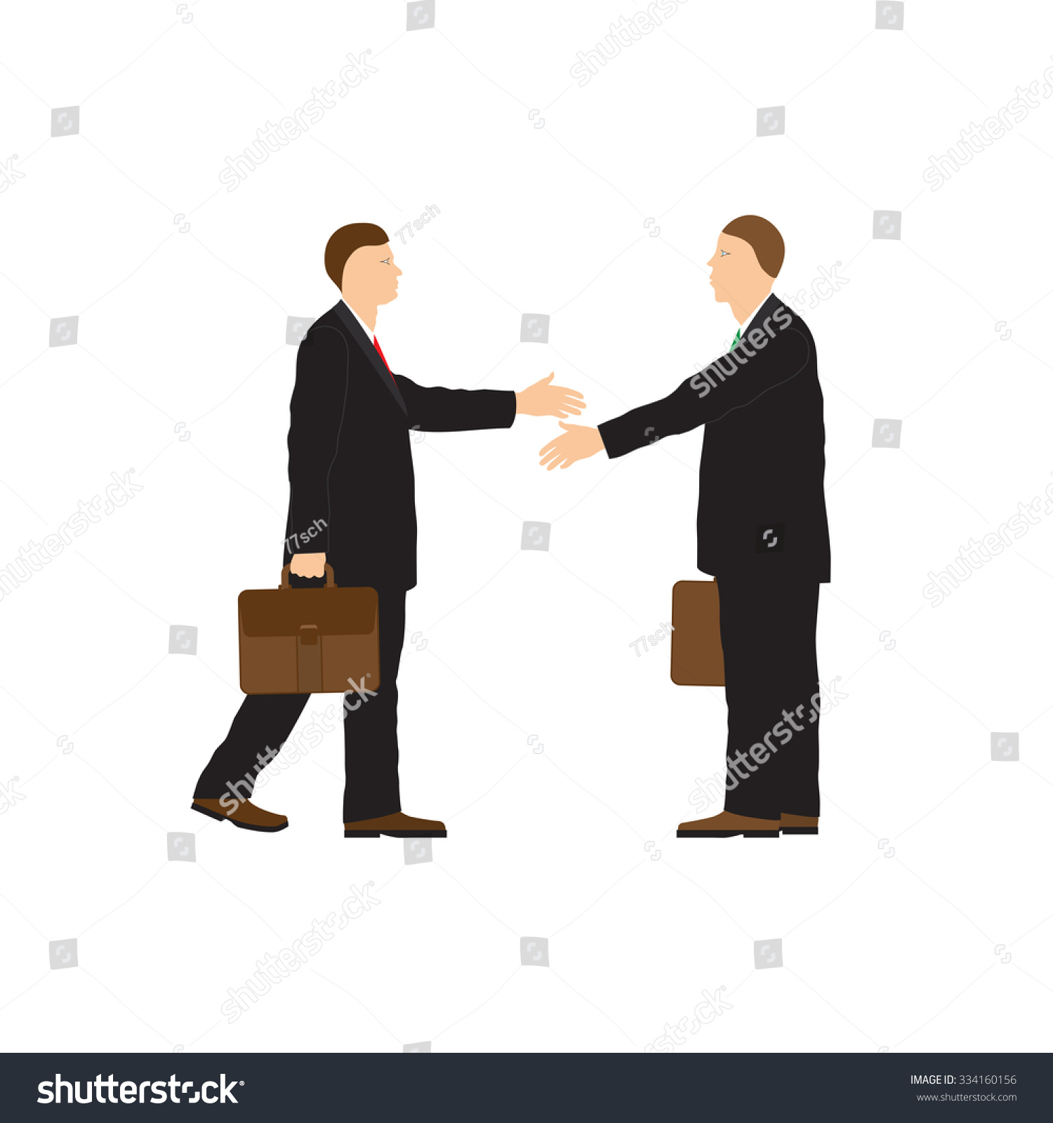 Business people handshake greeting deal at work photo free download - Two Businessmen Handshake Greeting Congratulation Conclusion Of The Contract
