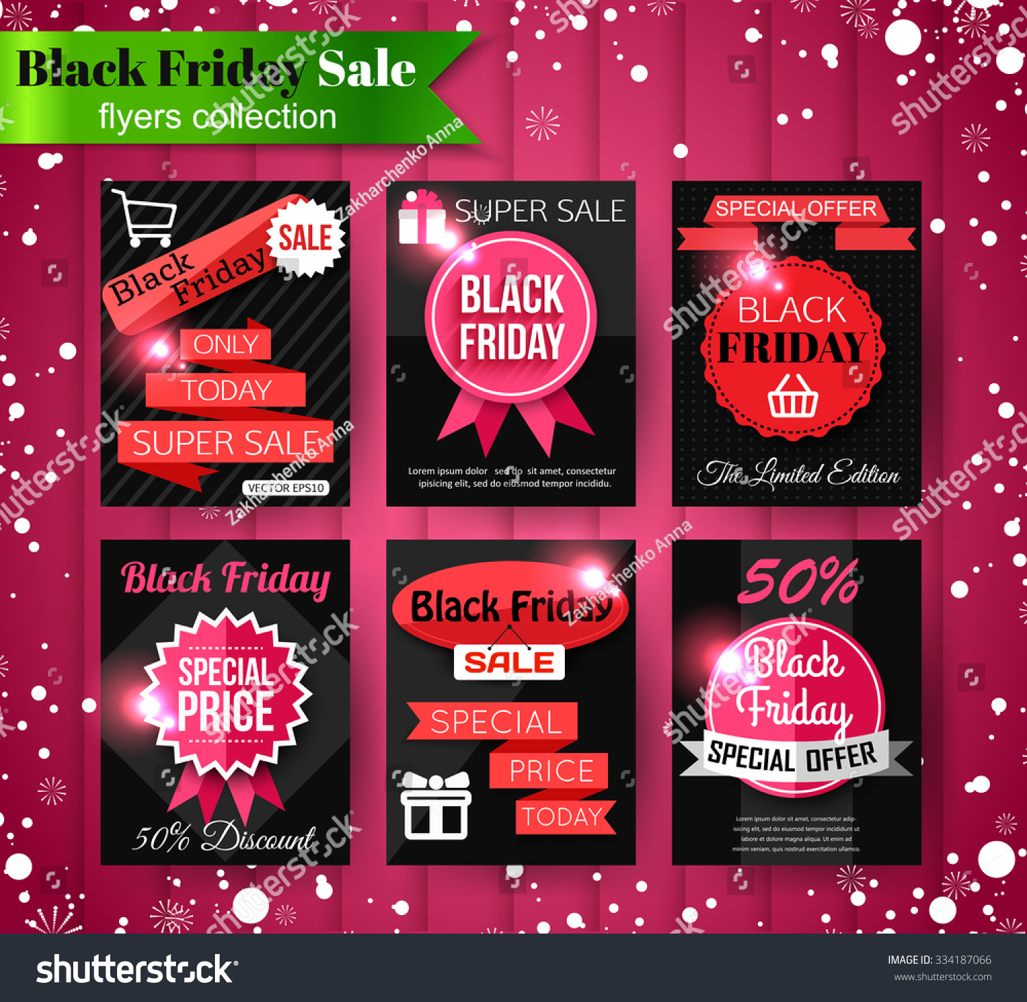 black friday banners flyers collection christmas black friday banners flyers collection christmas vector illustration