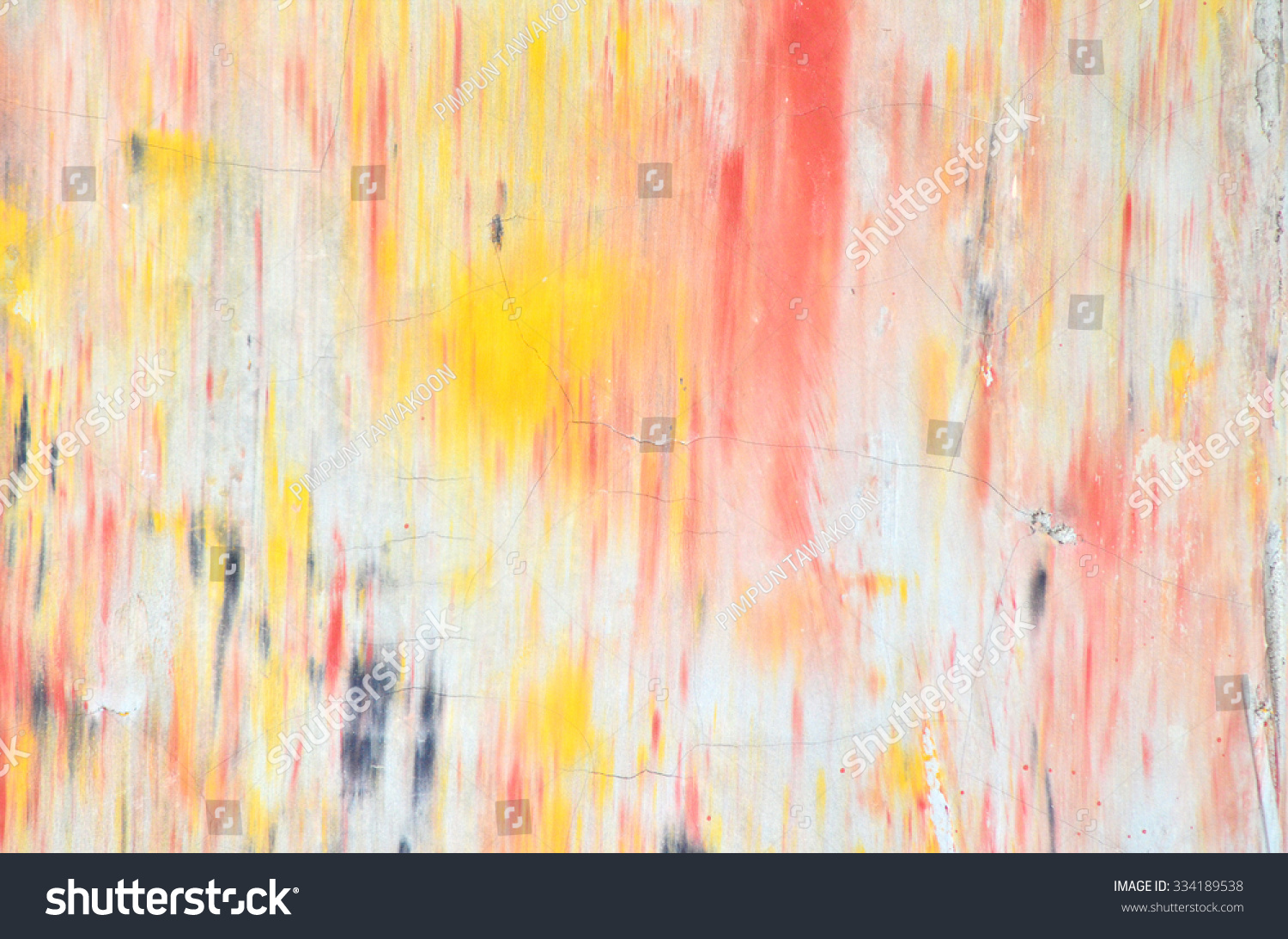 Color splash painting on wall stock photo 334189538 for Color splash wall art