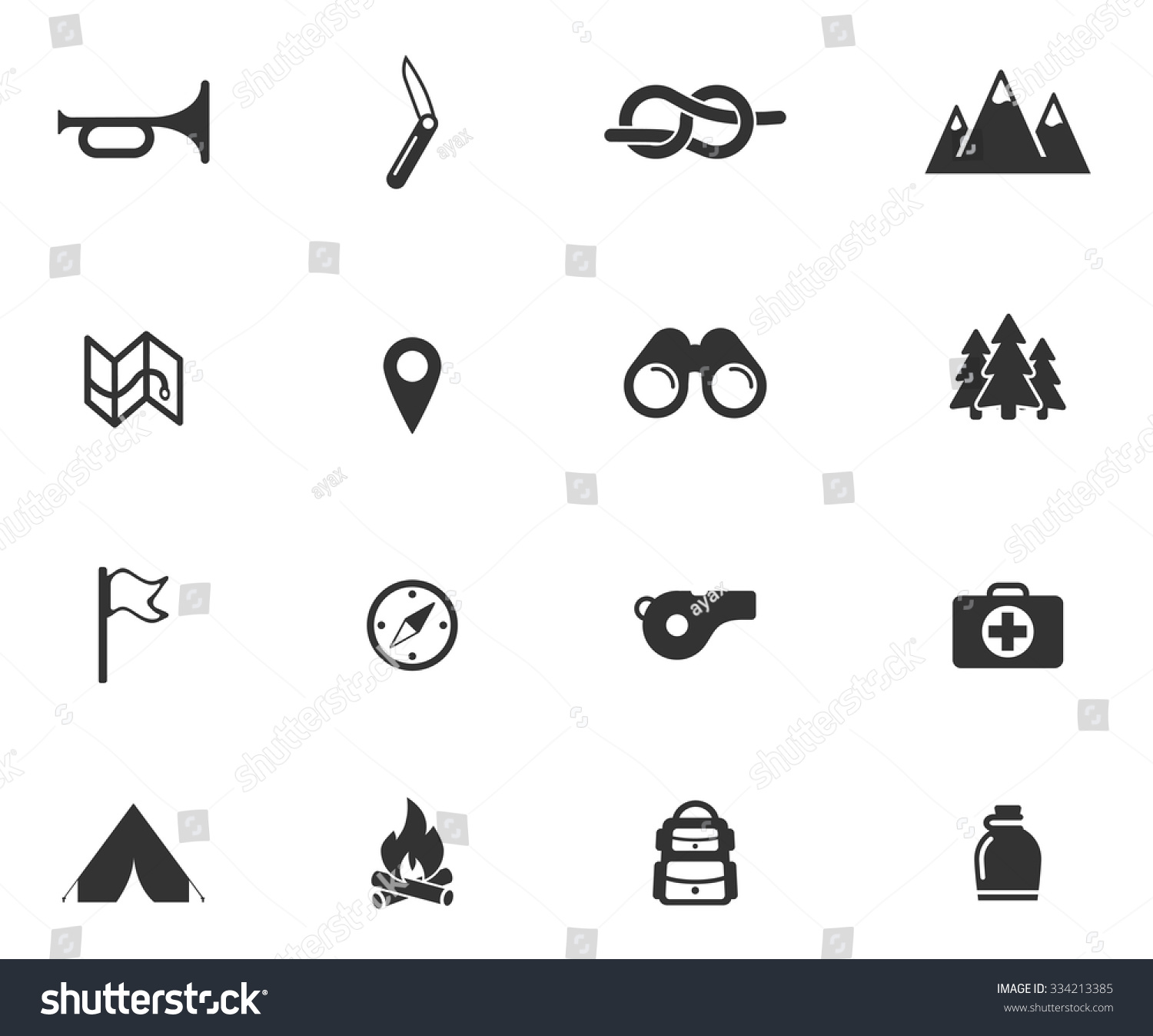 Boy Scout Simply Symbols Web Icons Stock Vector Royalty Free