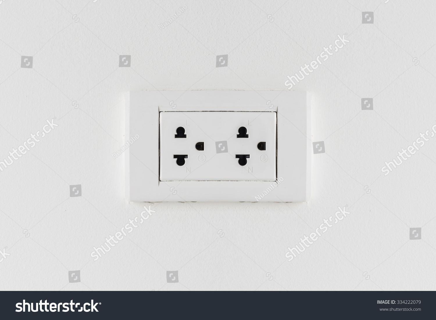 Electric Outlet Complete Line Neutral Ground Stock Photo (Royalty ...