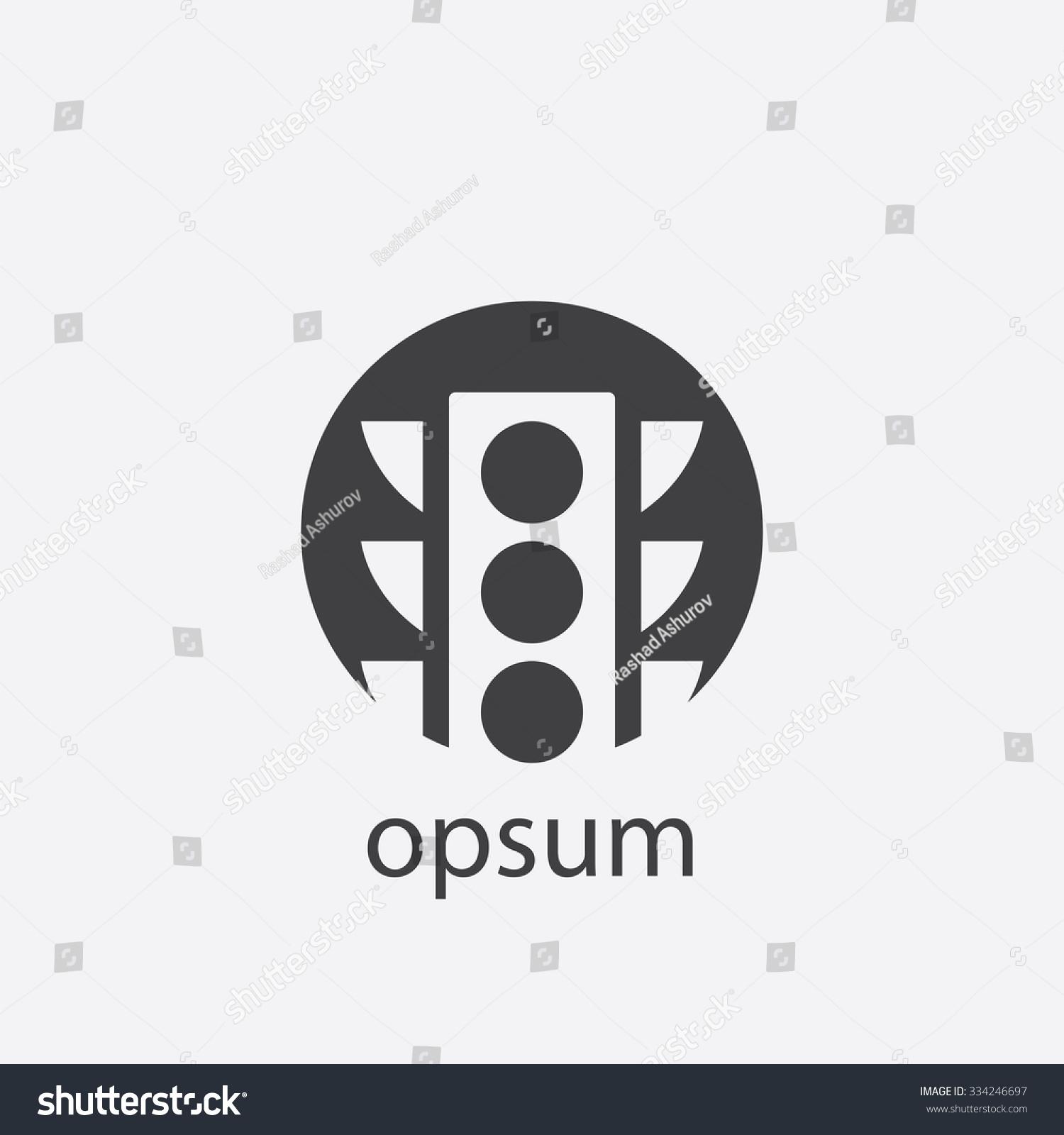 Traffic Light Cut Identity Template Icon Stock Photo (Photo, Vector ...