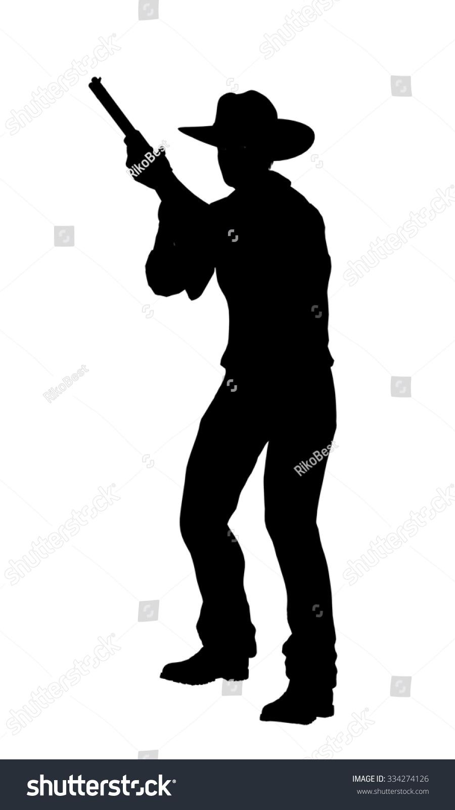 Cowgirl gun silhouette