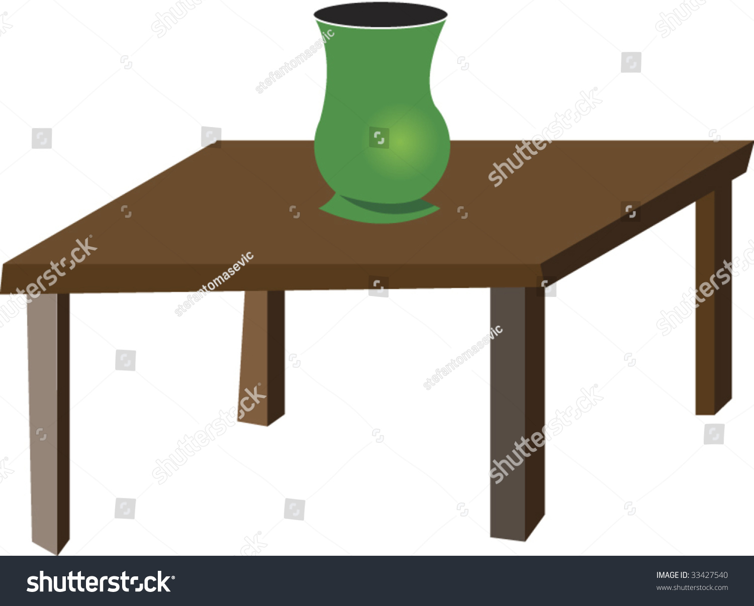 Table vase stock vector 33427540 shutterstock table with vase reviewsmspy