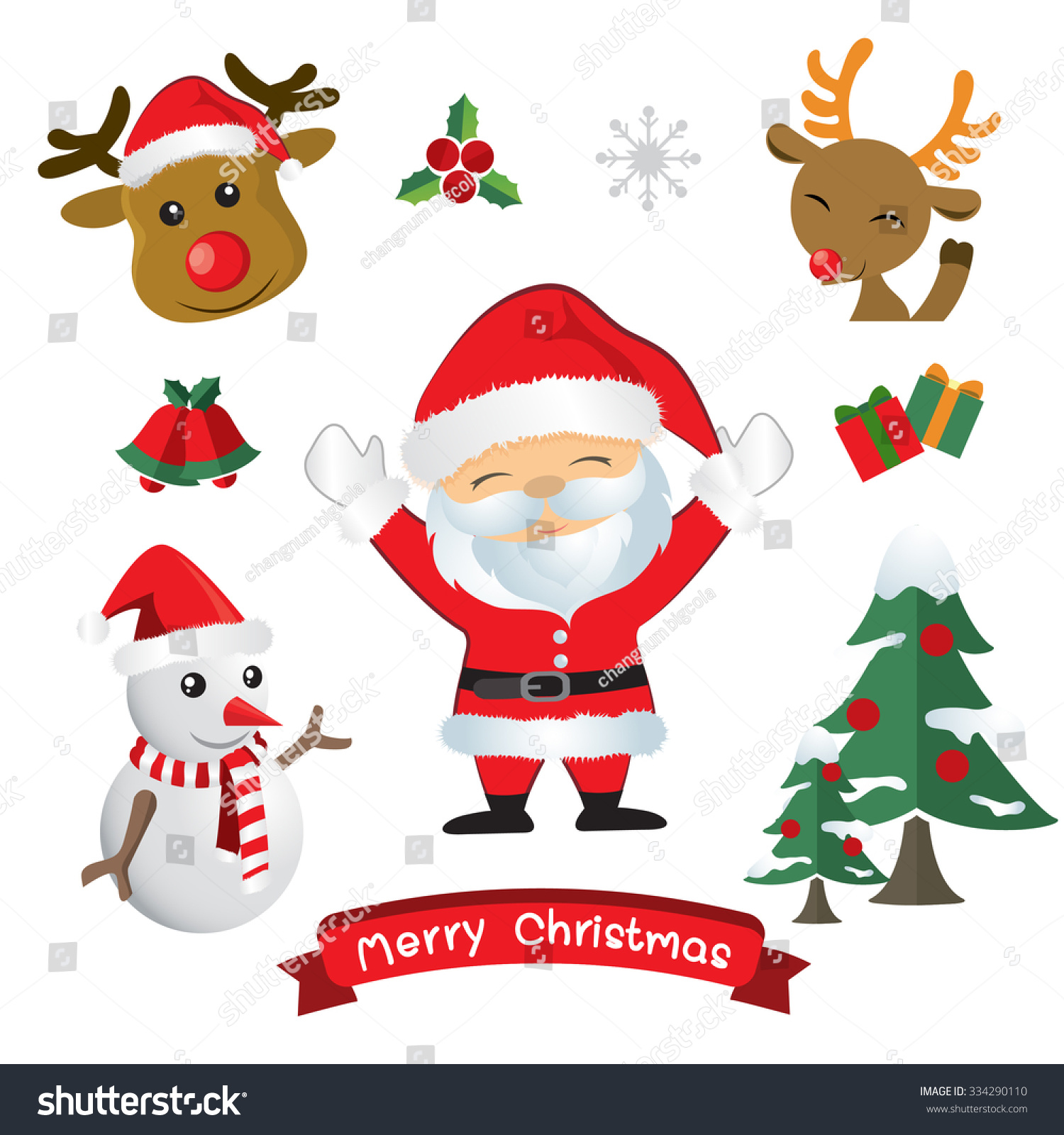 Vector Christmas Decorate Stock 334290110