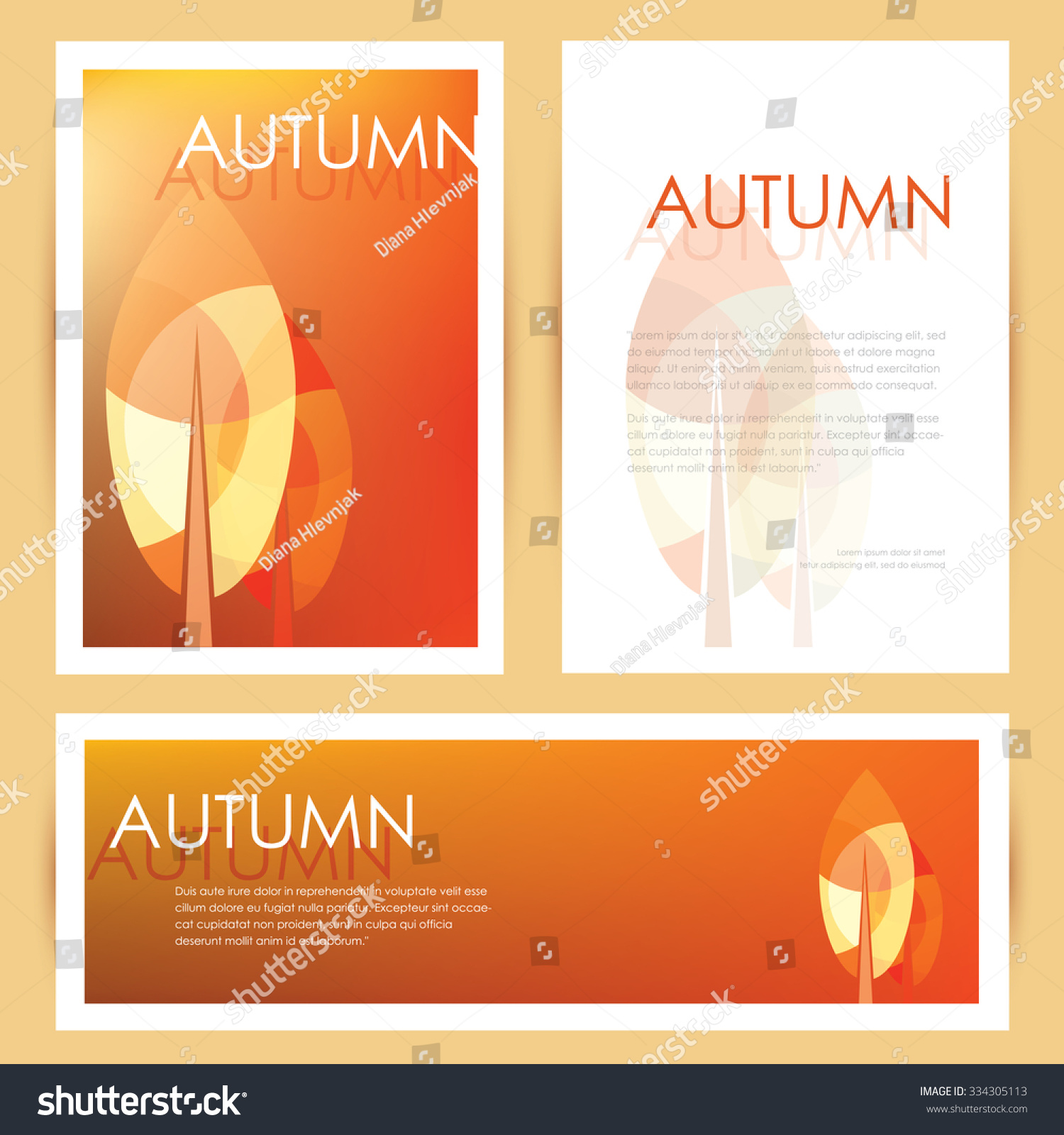 Brochure cover letterhead template banner mockup stock photo photo brochure cover letterhead template and banner mockup in autumn seasonal theme with abstract multicolored leaves spiritdancerdesigns Image collections
