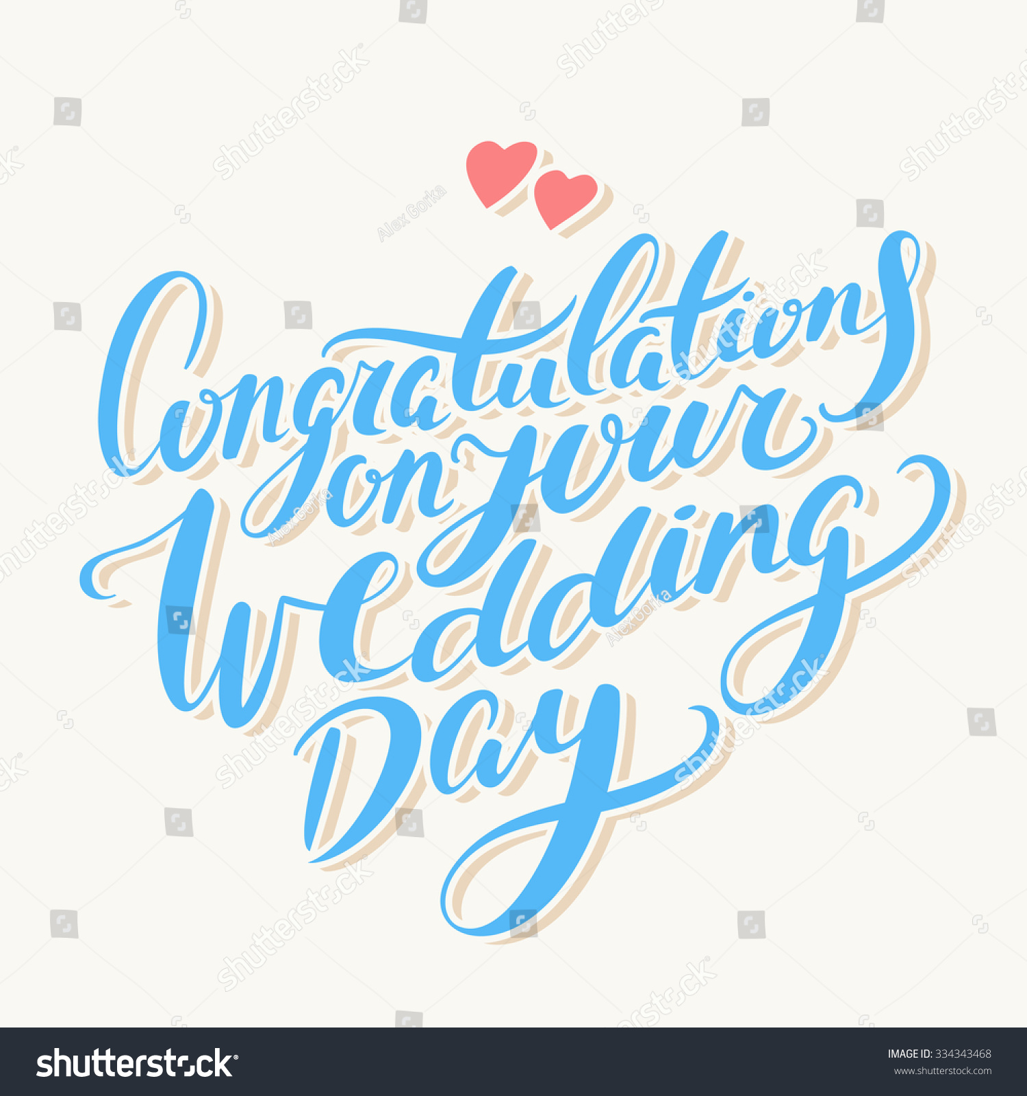 Congratulations On Your Wedding Day Greeting Card Stock
