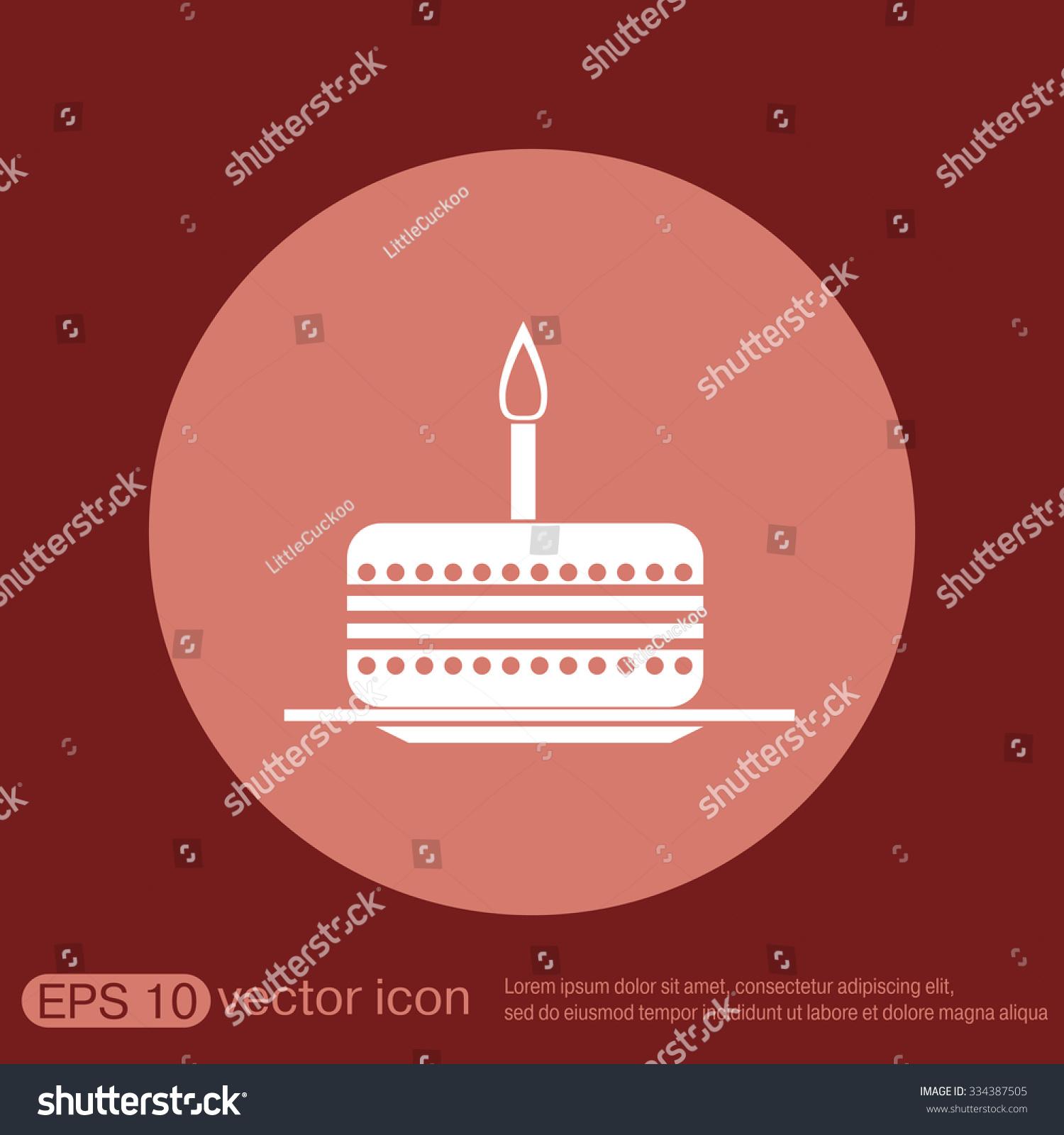 birthday cake icon. symbol of cake. Celebrating the birthday of the ...