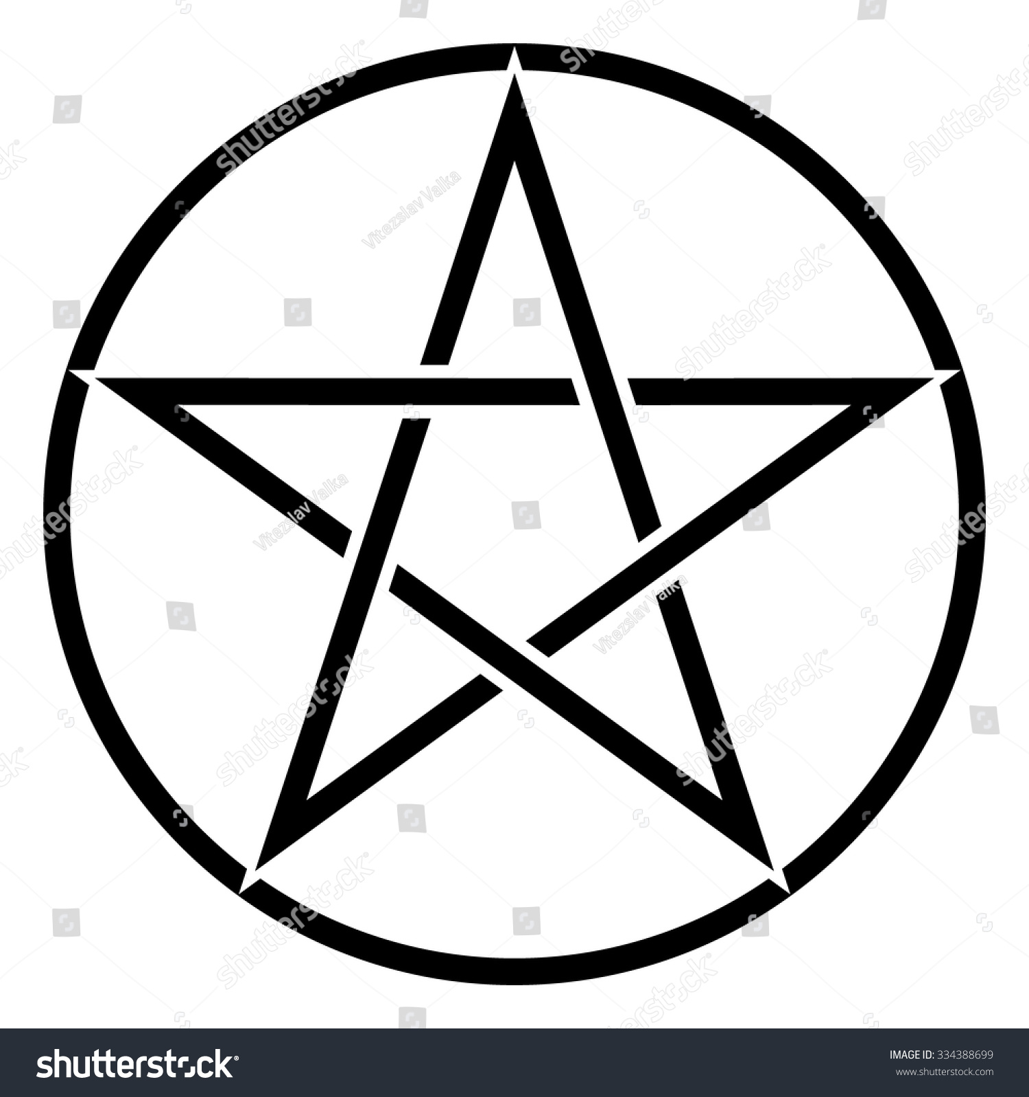Pentagram Symbol Star Sign Magic Evil Stock Vector Royalty Free