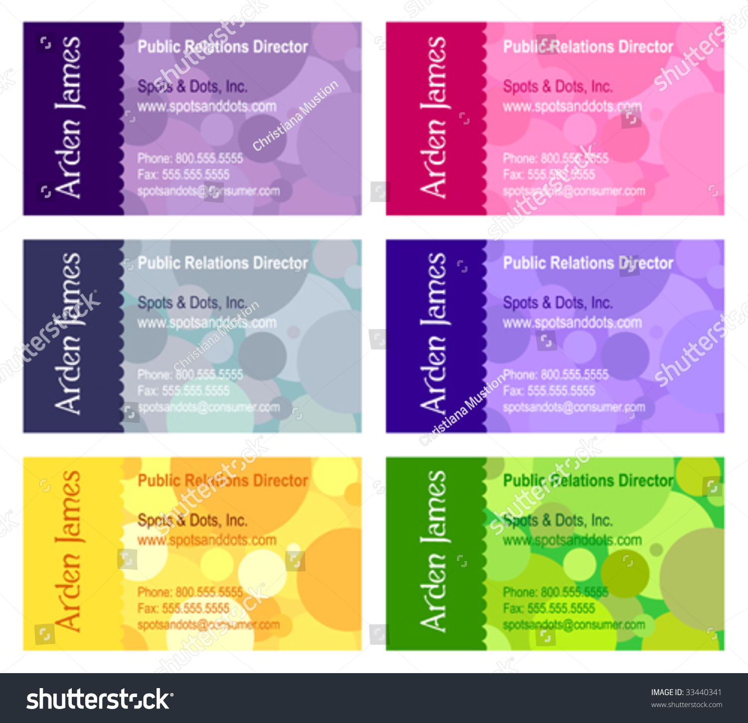 Sample business cards stock vector 33440341 shutterstock sample of business cards magicingreecefo Gallery