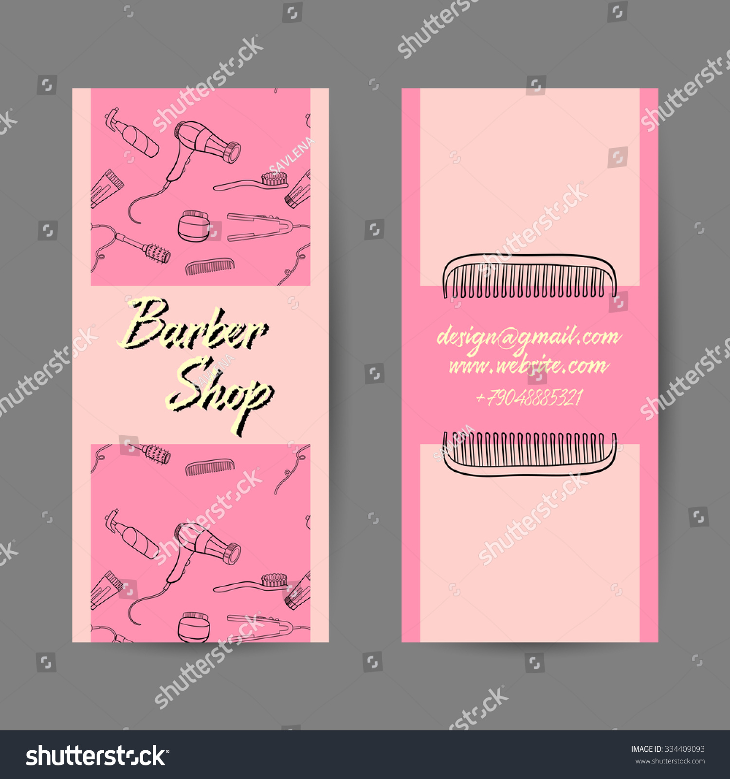 Sample business card barber shop vector stock vector 334409093 sample of business card for barber shop vector illustration magicingreecefo Gallery