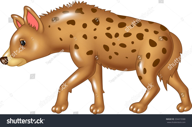 Baby girl hyena standing royalty free stock photos image-14088