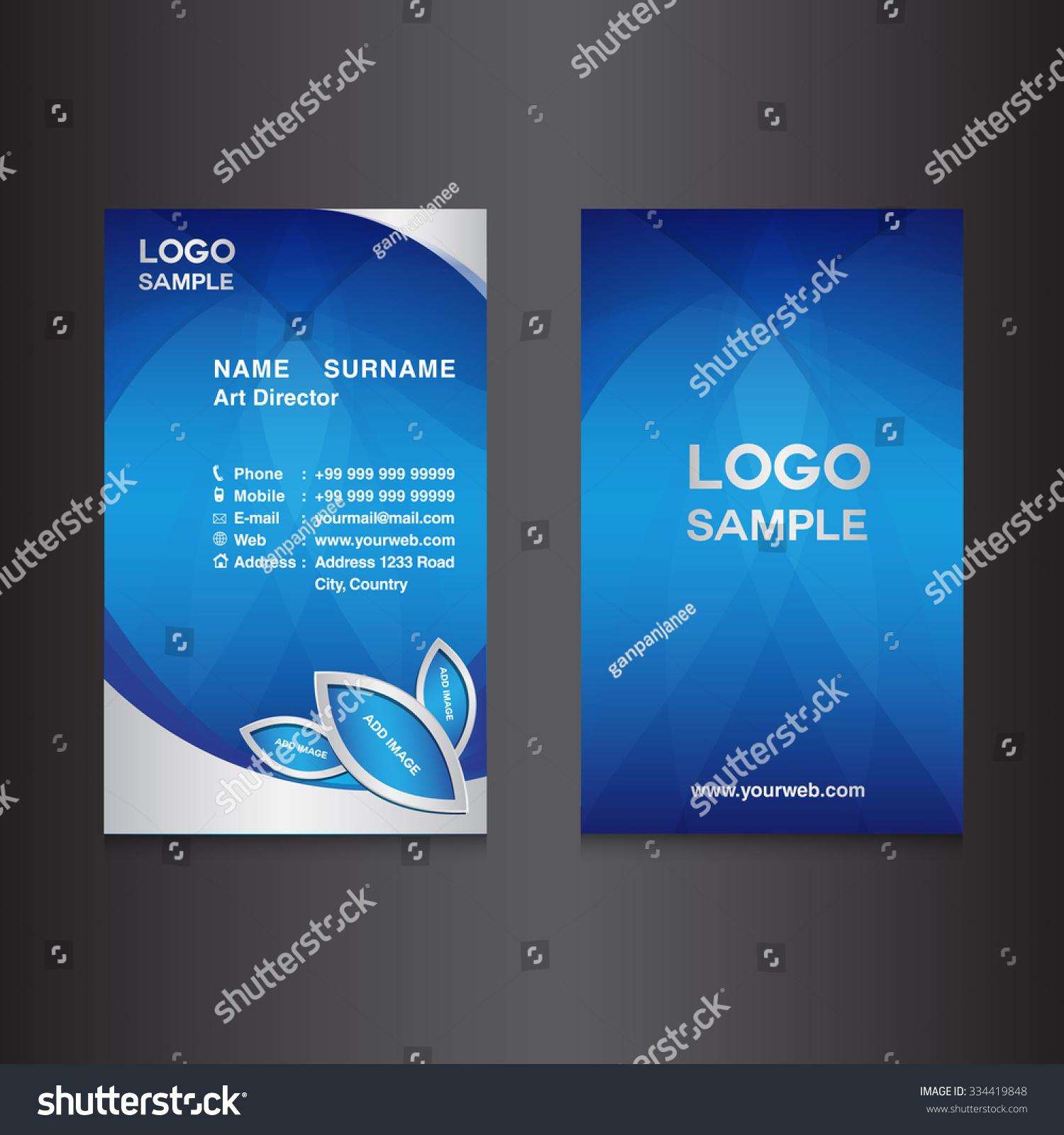 Blue vertical business card design template stock vector 334419848 blue vertical business card design template stock vector 334419848 shutterstock spiritdancerdesigns Choice Image