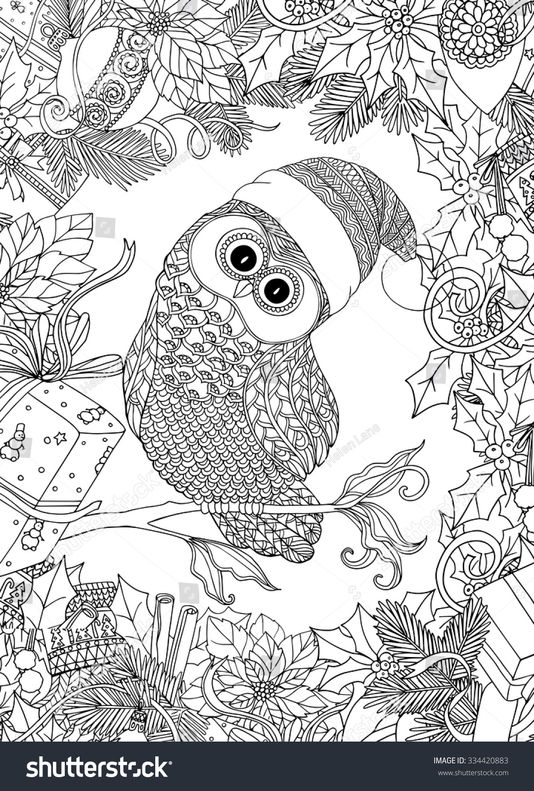 Cute Owl Coloring Pages For Adults