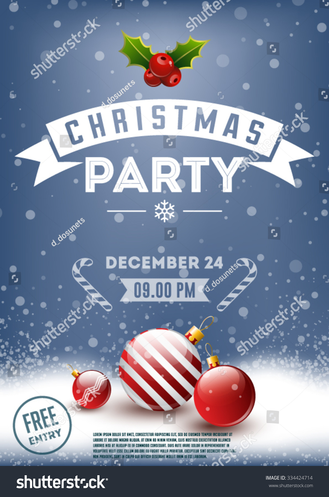 christmas party poster stock vector illustration 334424714 christmas party poster stock vector illustration 334424714 shutterstock