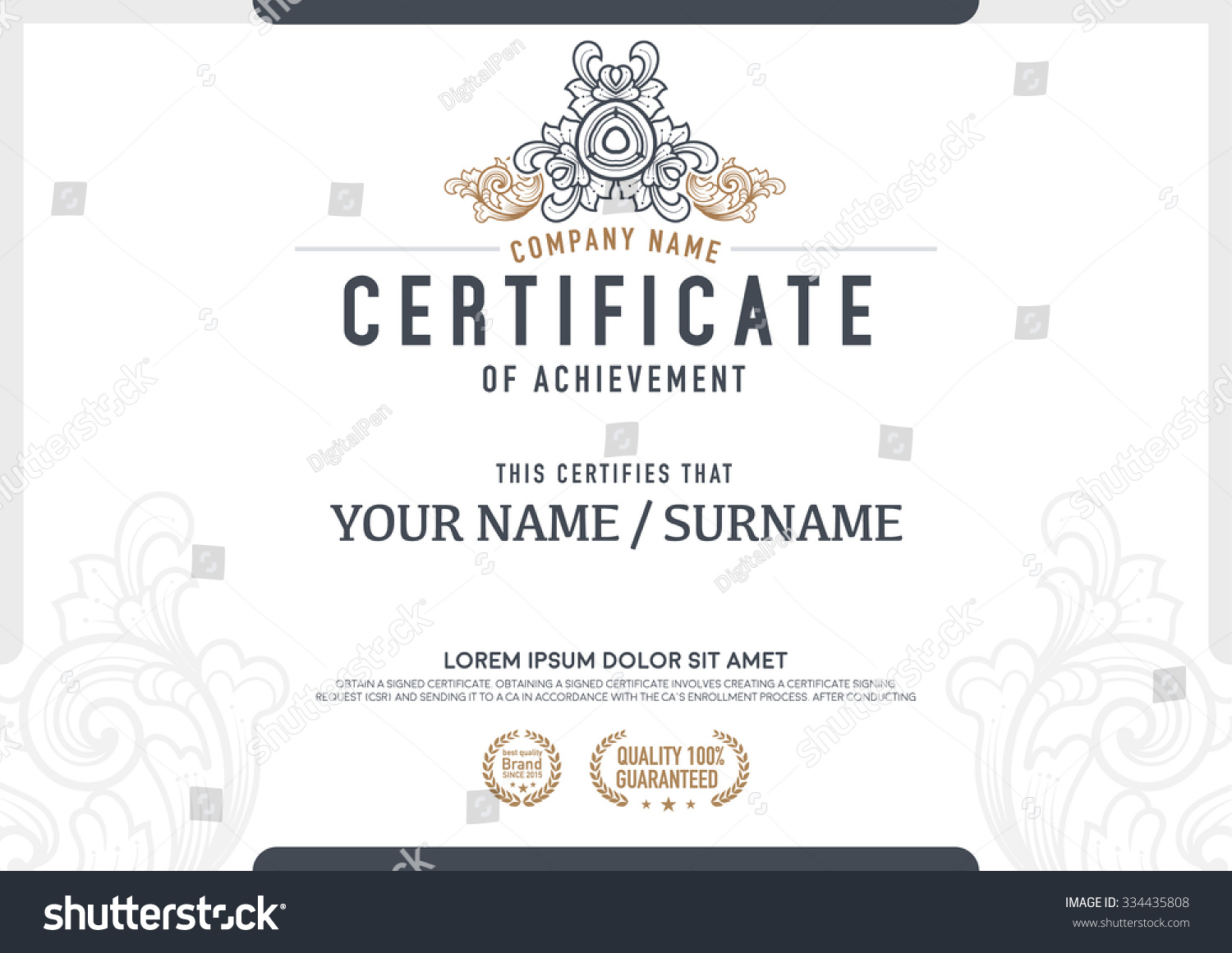 Thank You Certificate Wording Seating Chart Templates Concert Certificate  Of Appreciation Verbiage Landlord Verification Letter Stock