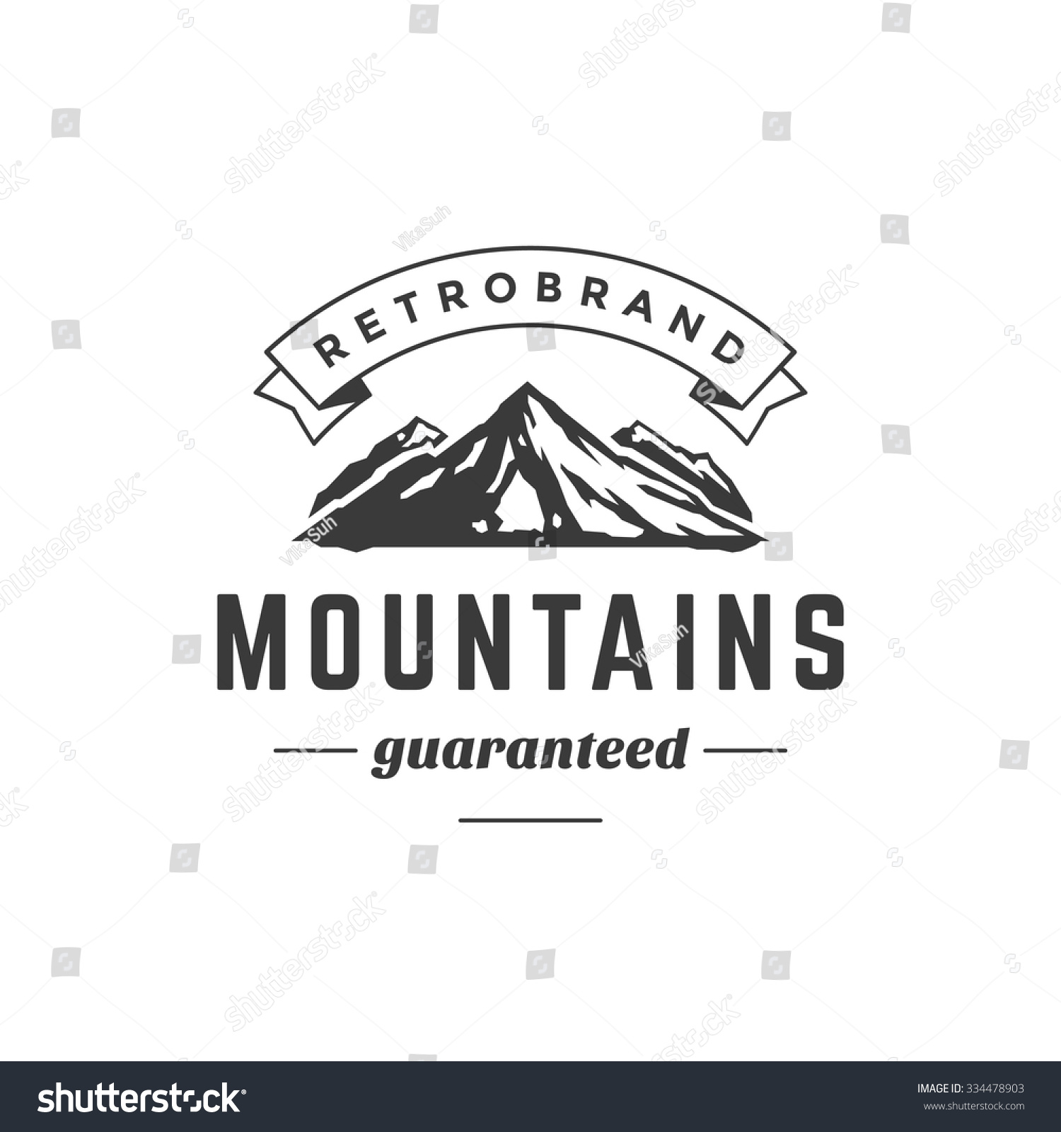 mountain vintage logo template emblem high stock vector 334478903 shutterstock. Black Bedroom Furniture Sets. Home Design Ideas