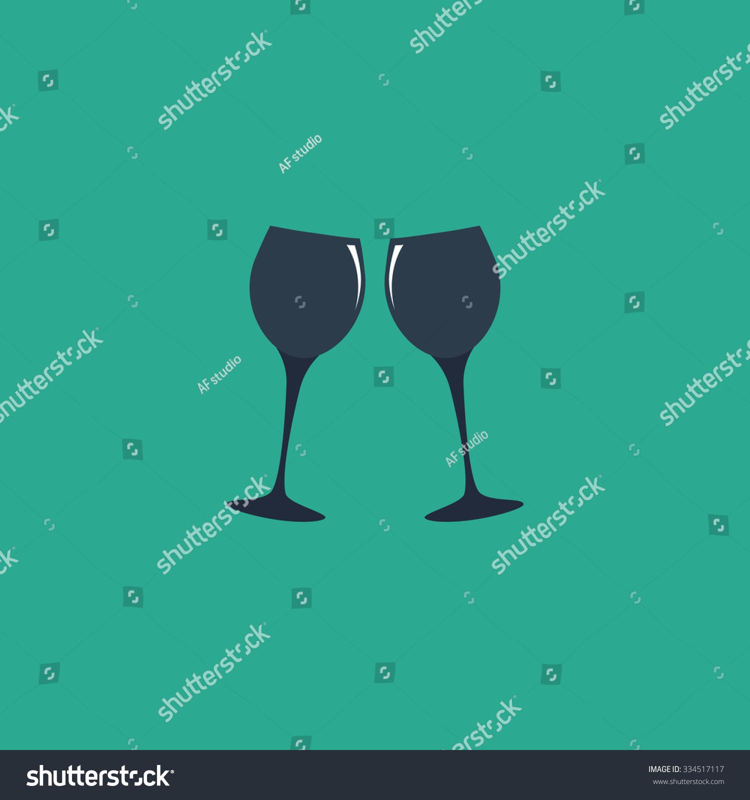 Two glasses wine champagne colorful vector stock vector 334517117 two glasses of wine or champagne colorful vector icon simple retro color modern illustration biocorpaavc Gallery