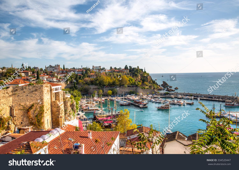 Old Town (Kaleici) In Antalya, Turkey Stock Photo 334520447 : Shutterstock