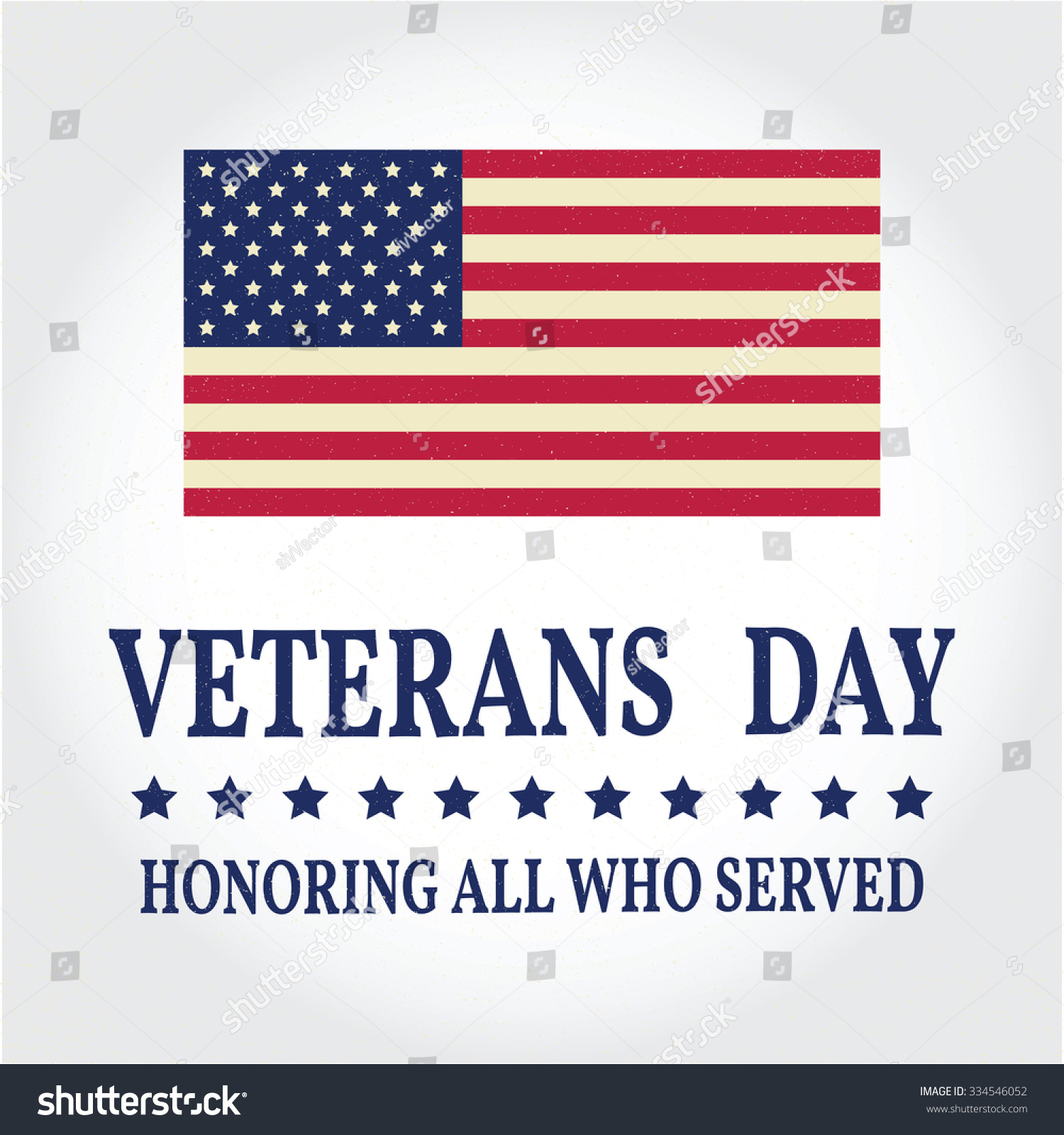 Happy veterans day greeting card vector stock vector 334546052 happy veterans day greeting card vector illustration m4hsunfo Image collections