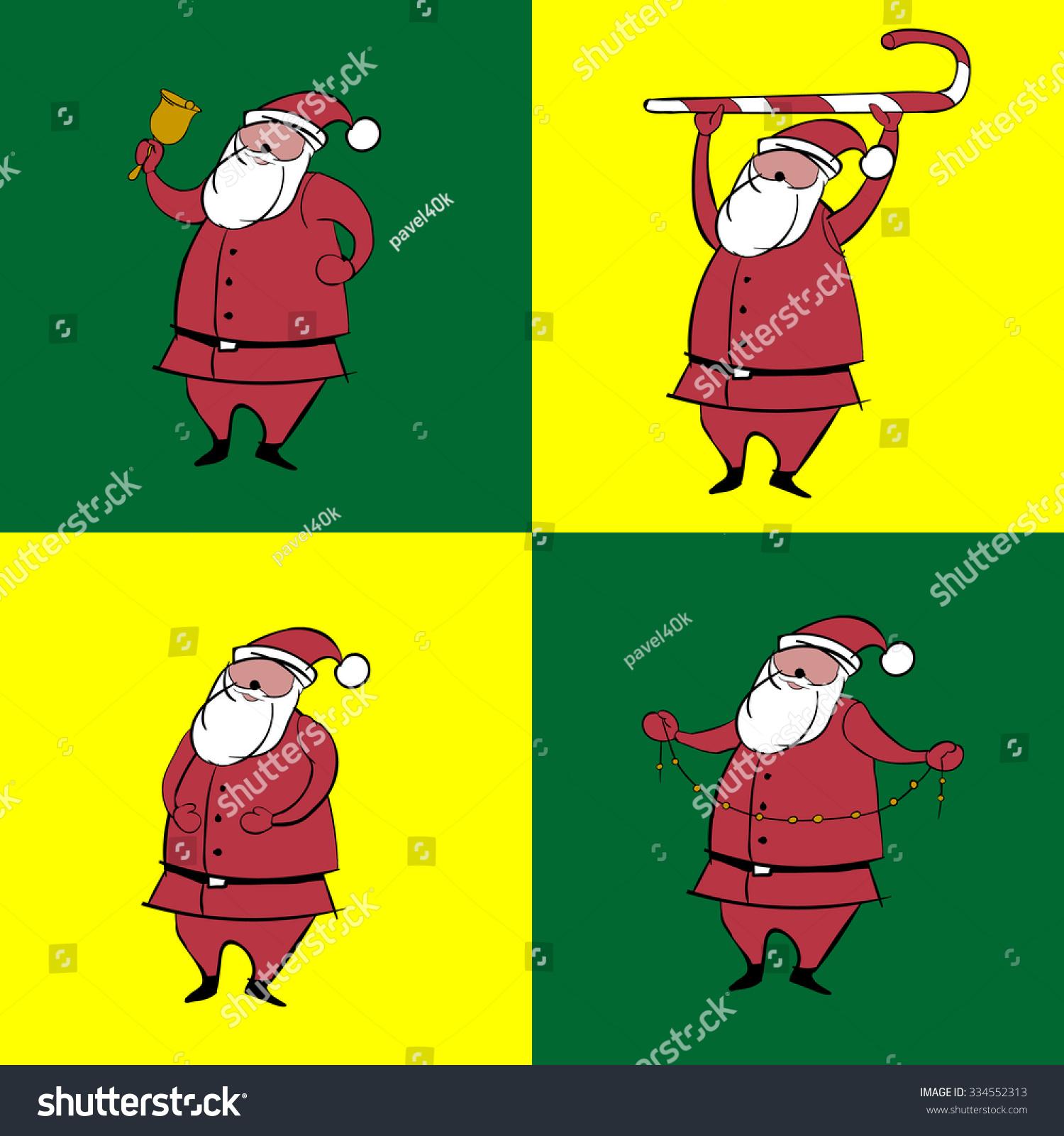 Merry Christmas Santa Claus Stock Vector 334552313 - Shutterstock