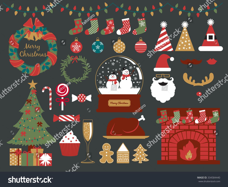 Merry Christmas Design Elementshappy New Yearchristmas Stock Vector ...