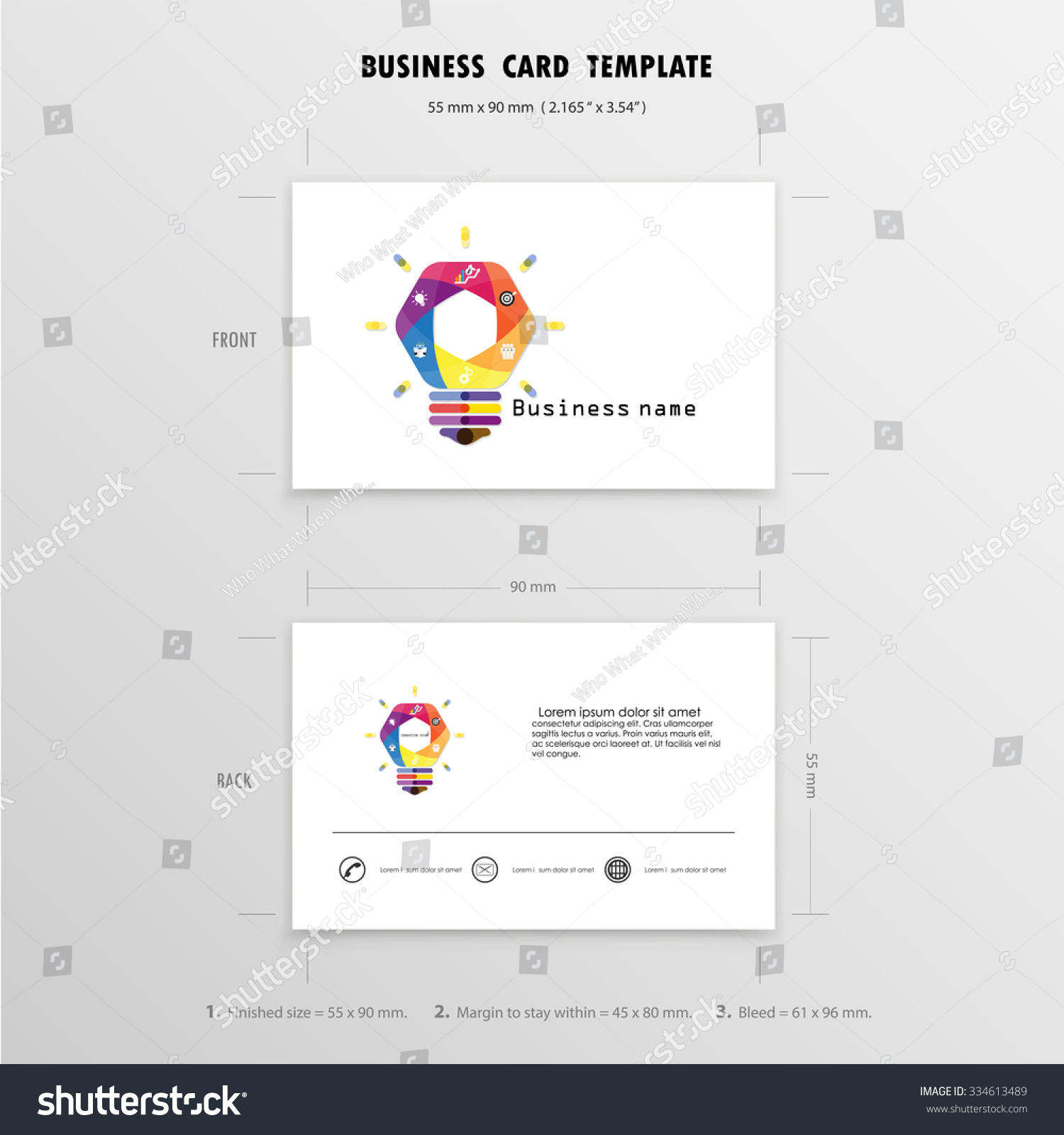 Abstract creative business cards design template stock photo photo abstract creative business cards design template name cards symbol size 55 mm x 90 reheart Images