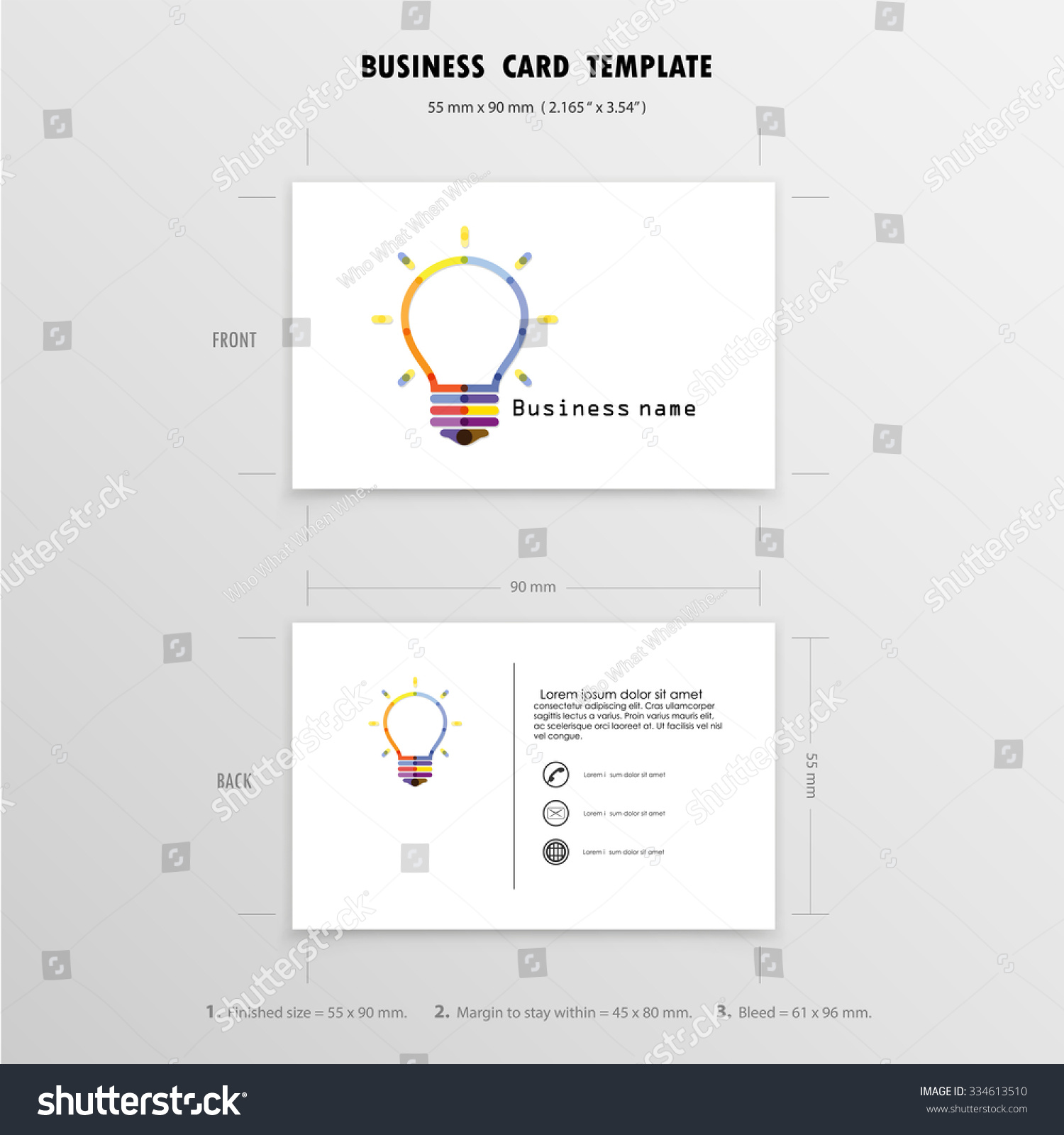 Business Cards: Business Cards Size Mm