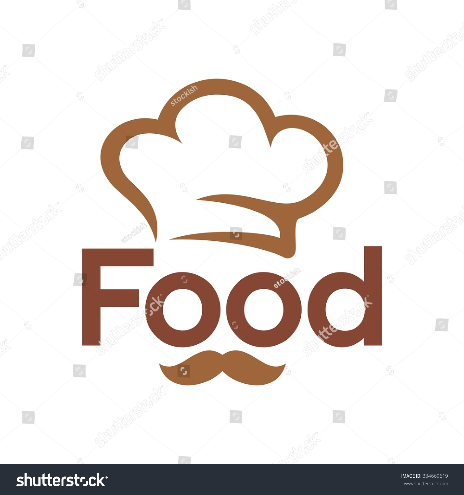 Retro Bakery Logo Concept: Chef Logo Restaurant Logo Vector Icon Stock Vector