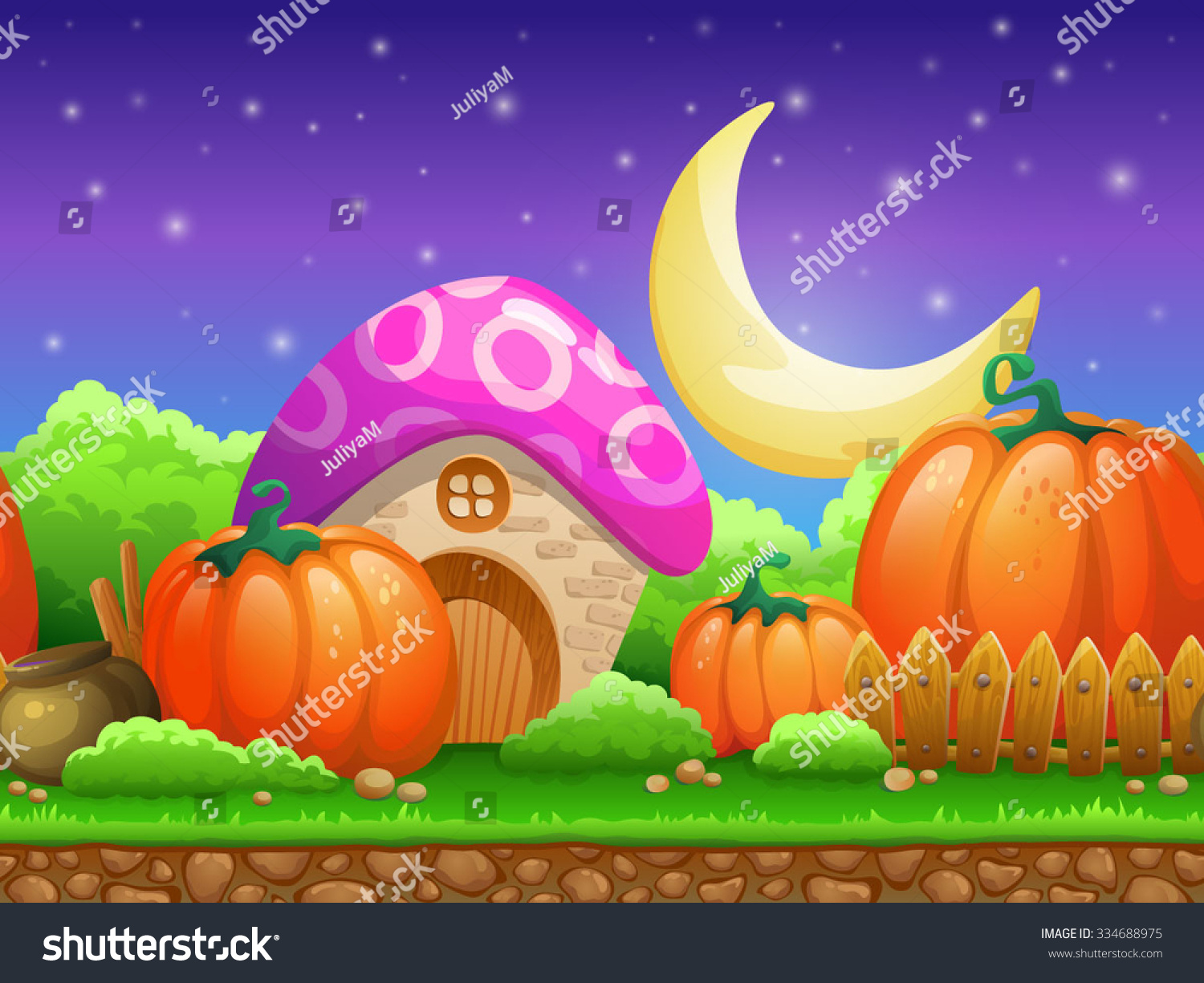 Cartoon fairy tale landscape candy land stock vector for Garden design game
