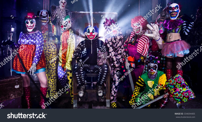 electric chair plans halloween. group terrifying clowns king clown electric stock photo 334694405 . chair plans halloween