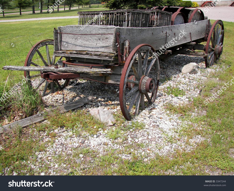 Rustic Buckboard Wagon Stock Photo 3347244