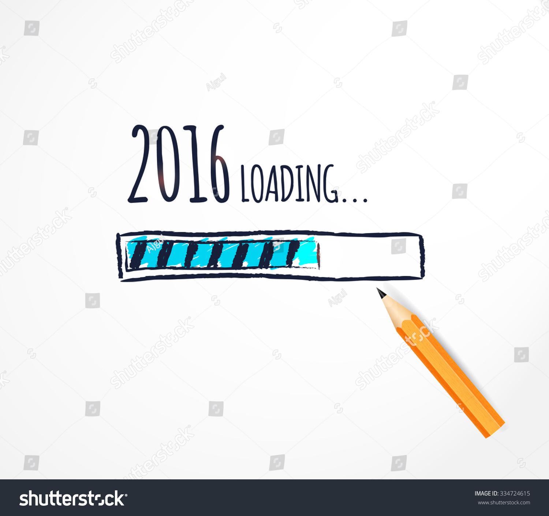 loading hand drawn progress bar stock vector stock vector loading hand drawn progress bar design funny happy new year vector