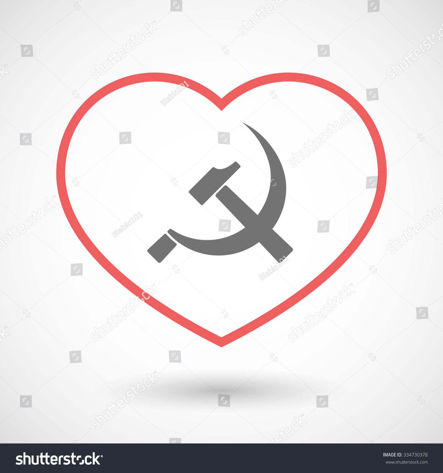 Illustration Line Hearth Icon Communist Symbol Stock Vector Royalty