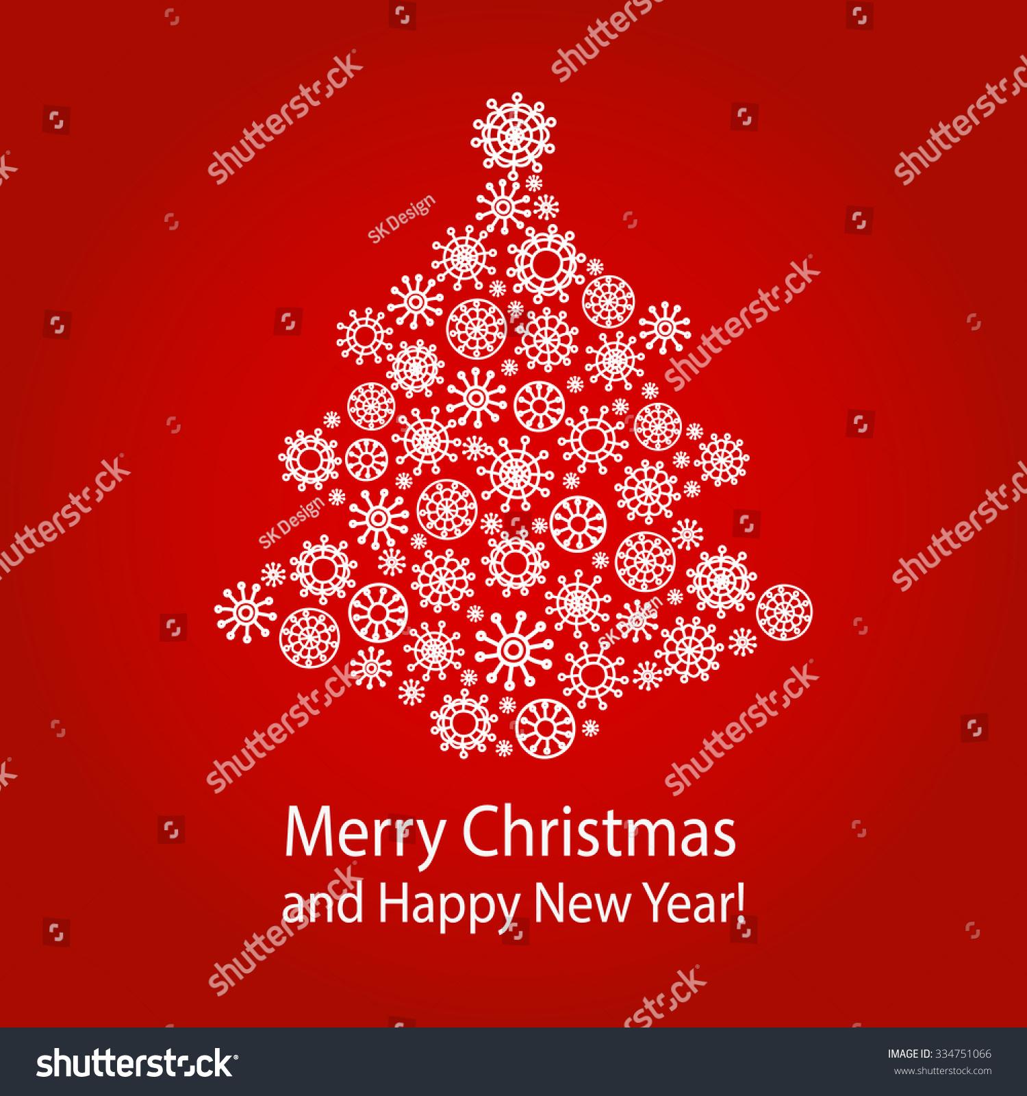 Christmas Greeting Card Merry Christmas Happy Stock Vector Hd