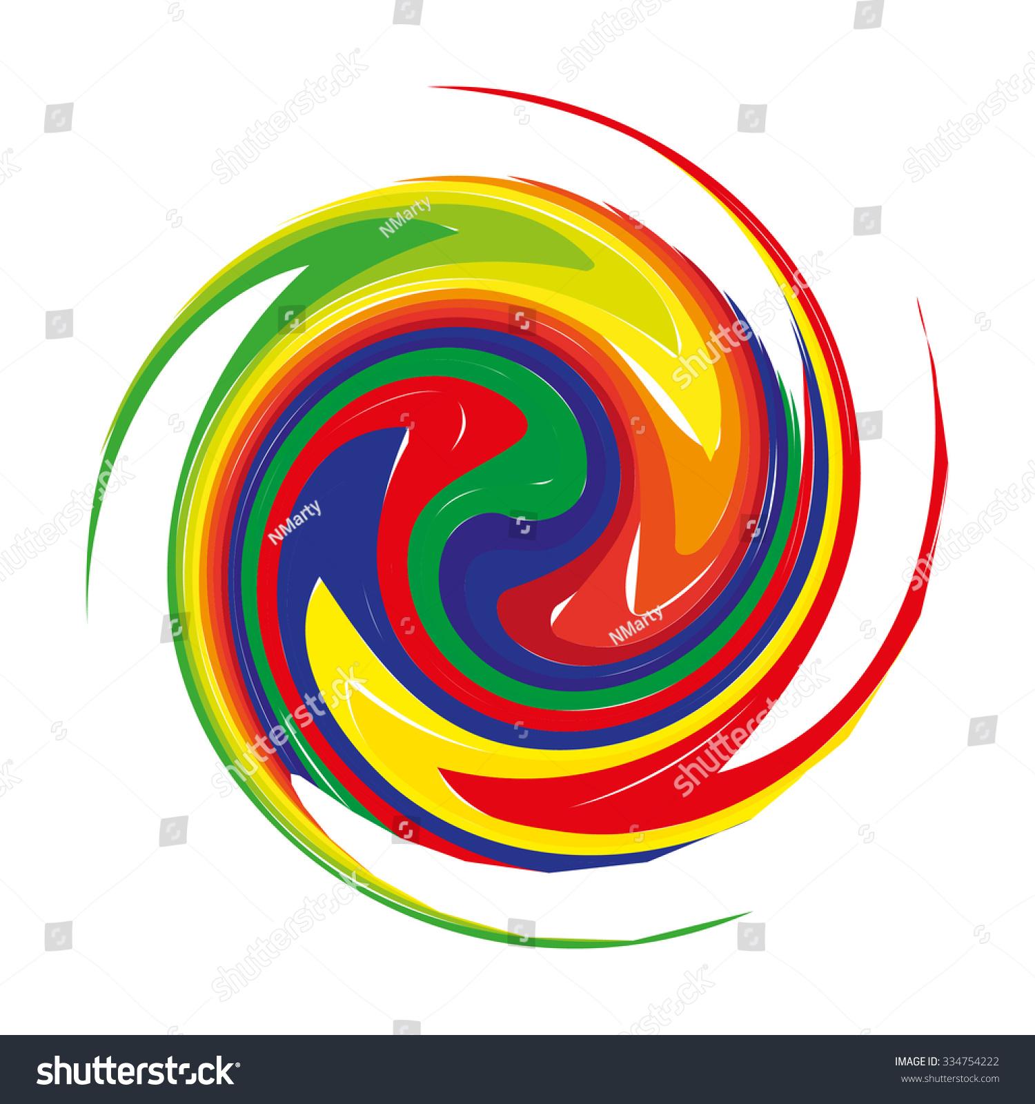 Mandala Circular Pattern Pattern Color Spirals Stock Vector ...