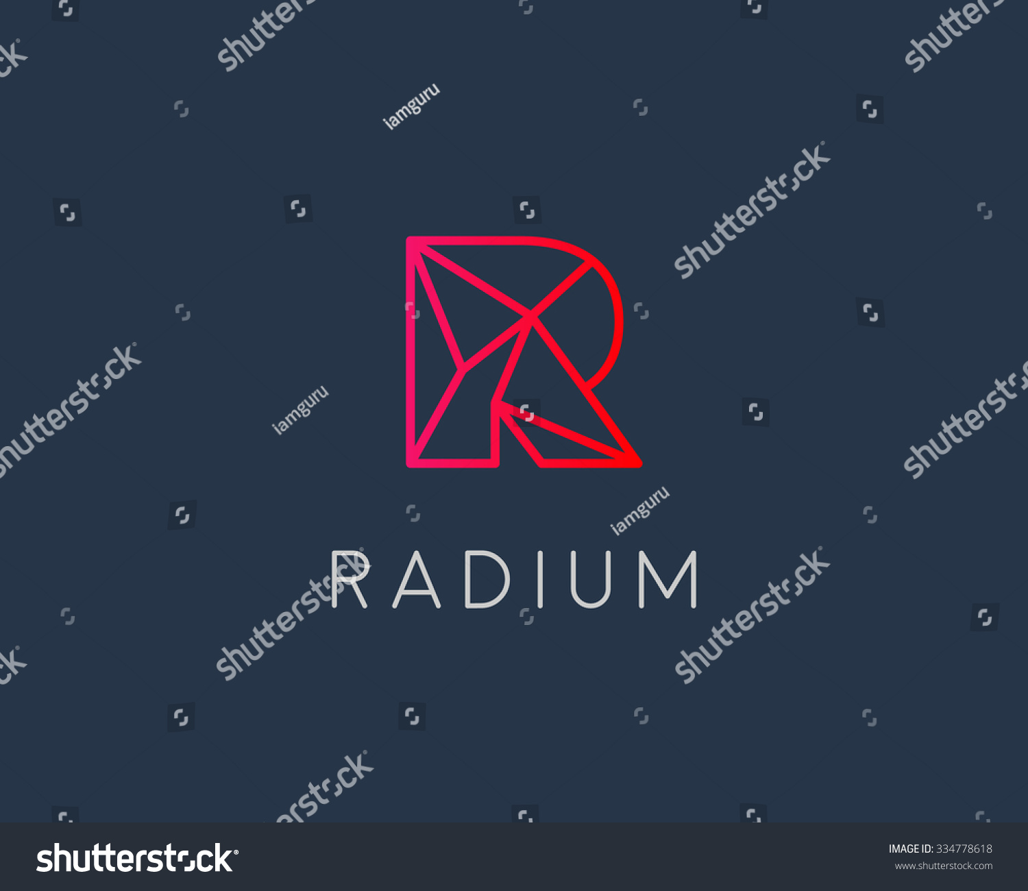 abstract trend letter r logo design template colorful structure creative sign communication vector symbol